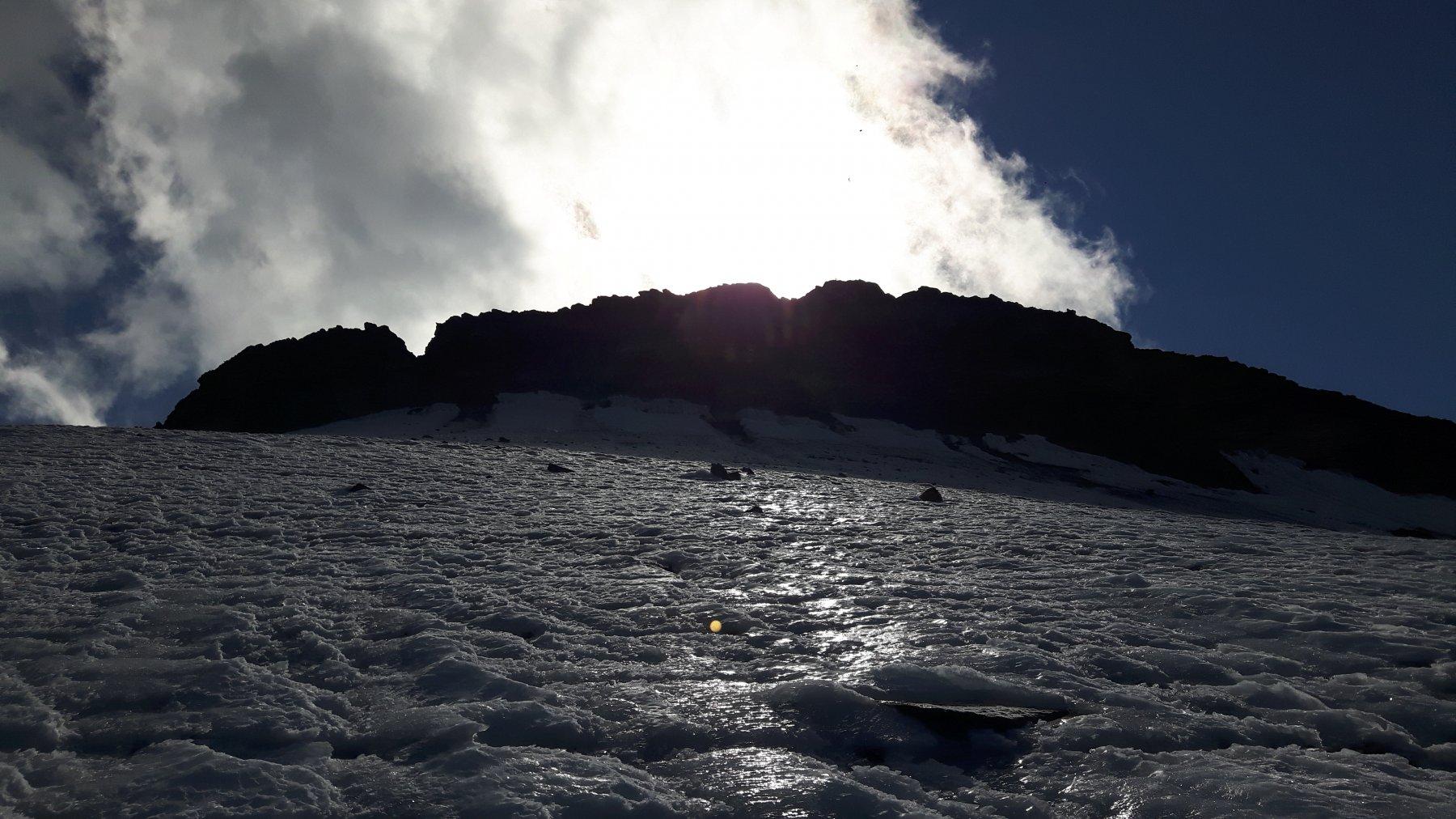 La parte alta del Ghiacciaio Ferrand.