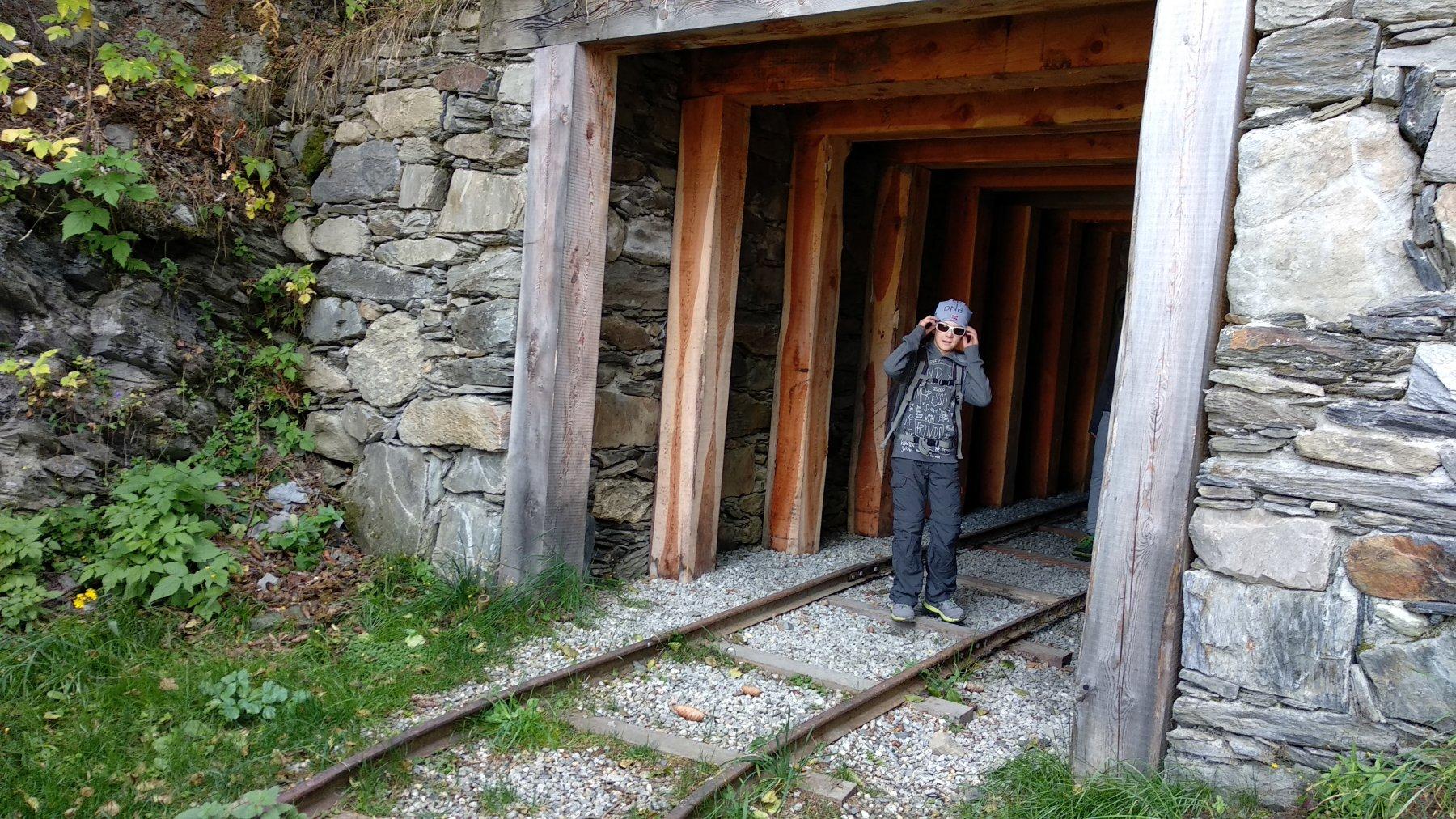 ingresso della galleria dell'argano