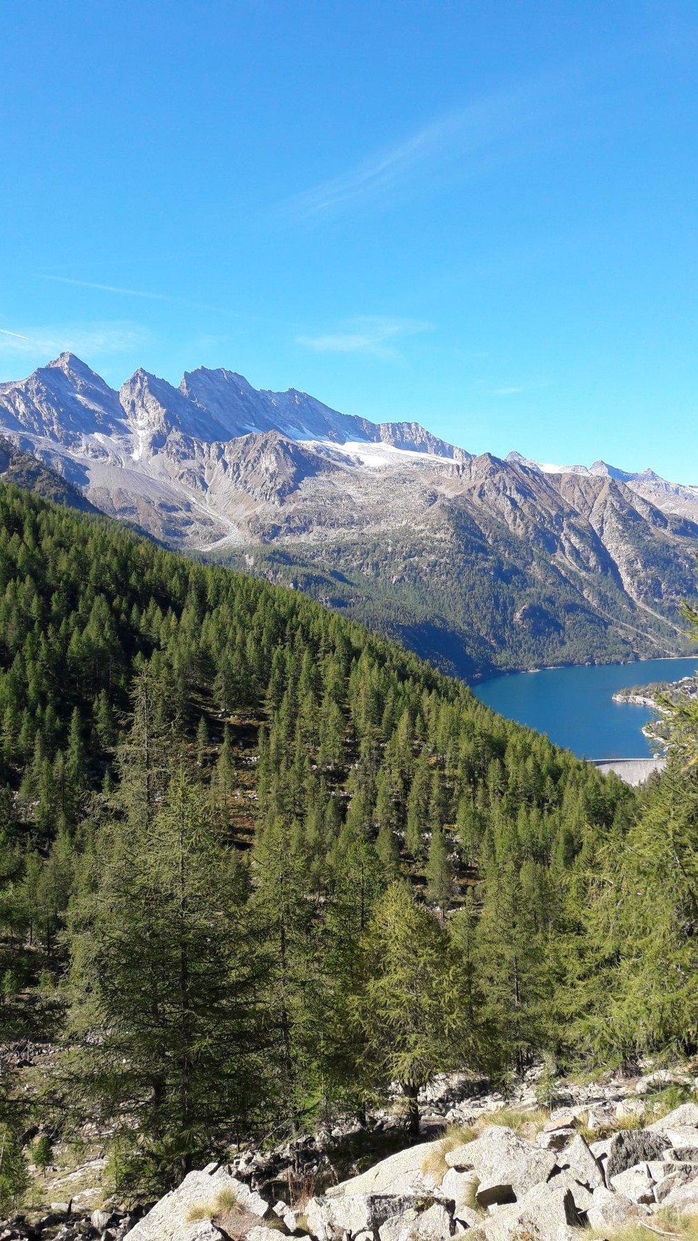 Lago di Ceresole dall'alto