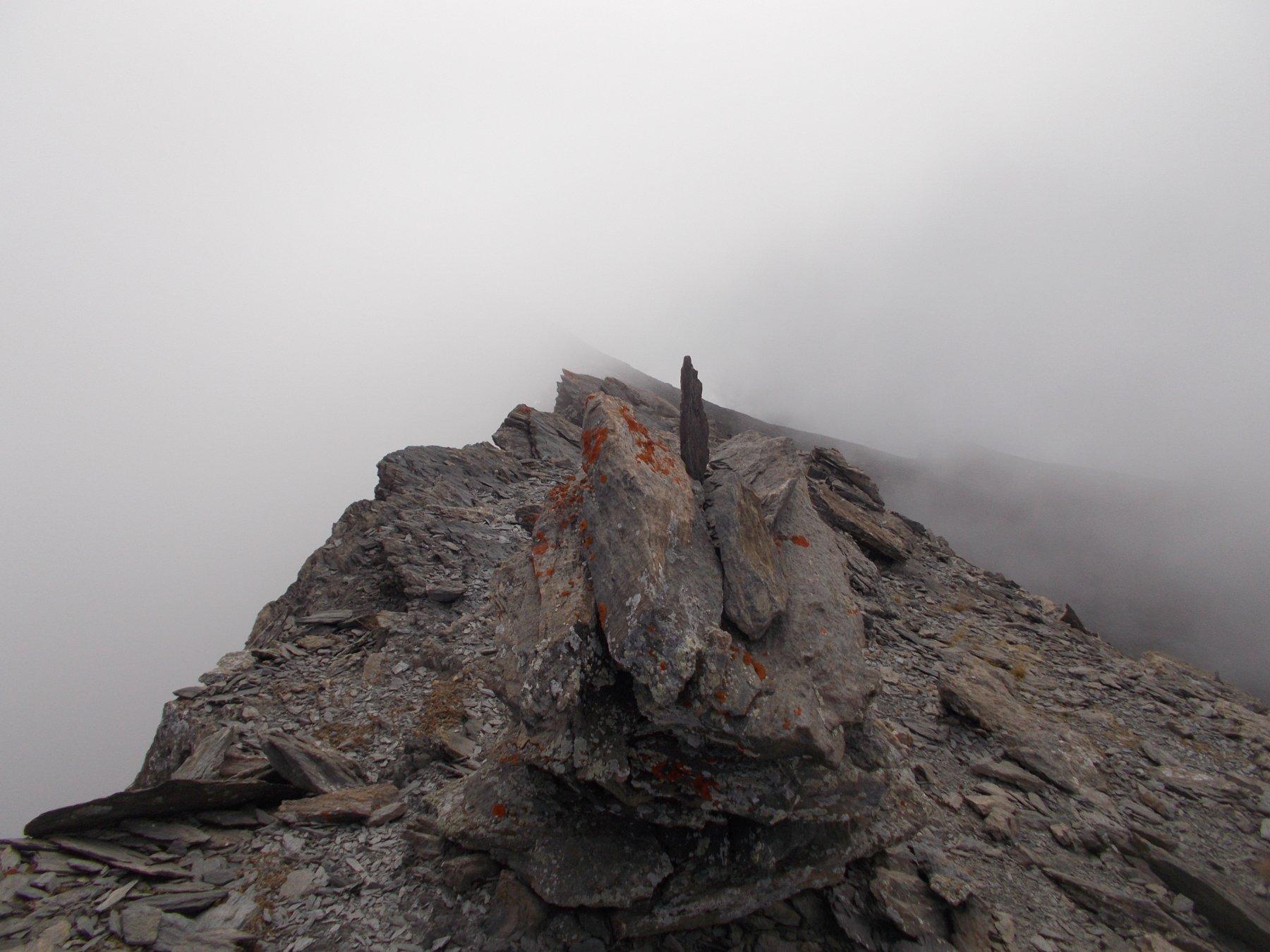 arrivo alla quota 3175m..nella nebbia..