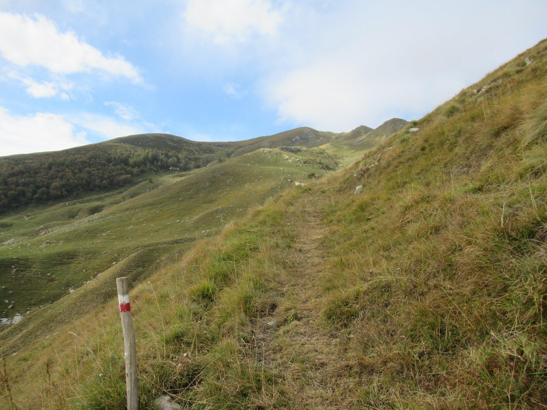 Il sentiero per Passo Fronte'.