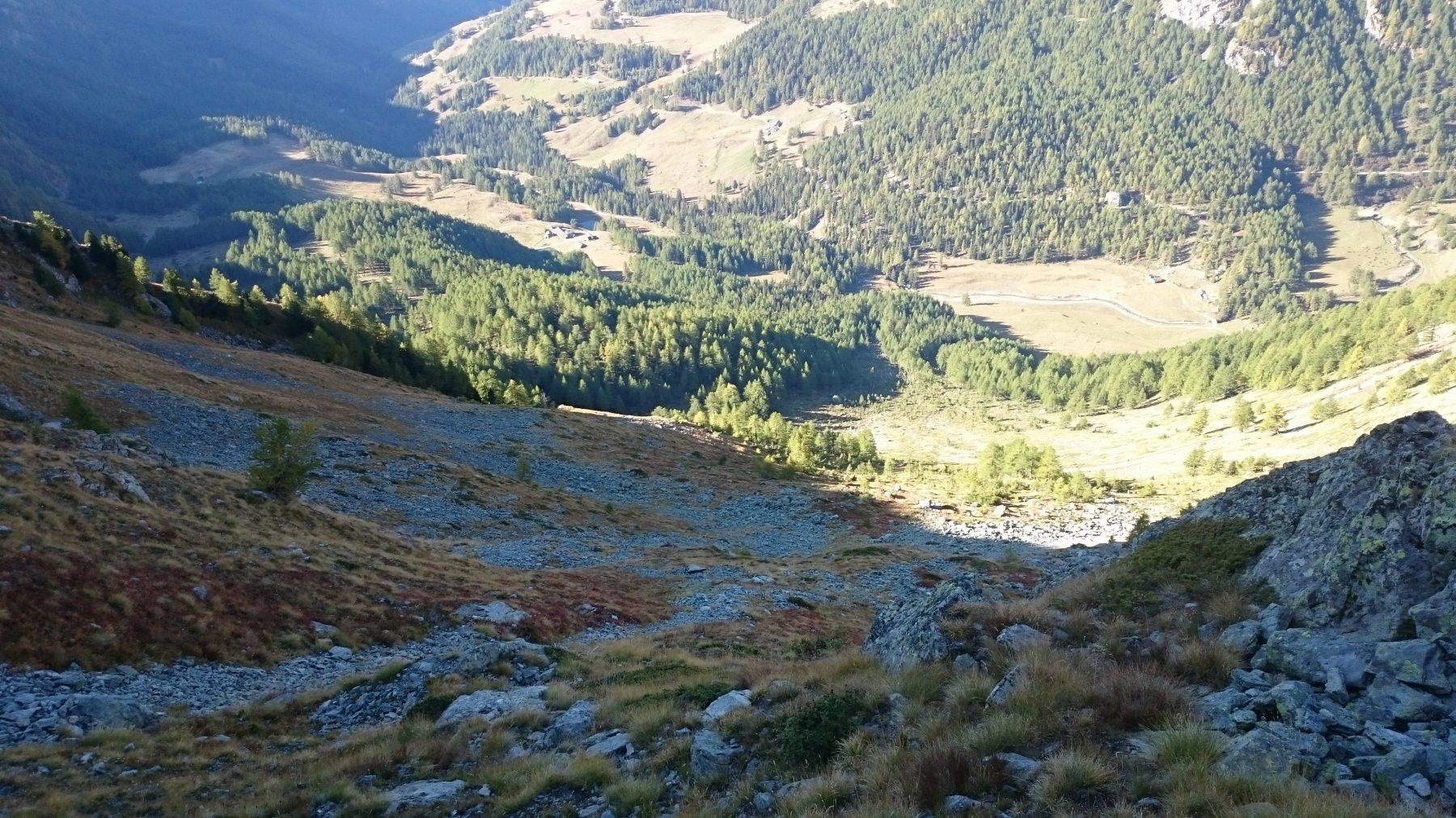 Il pendio sceso per riprendere il sentiero dal colle dopo Monte Miracolo