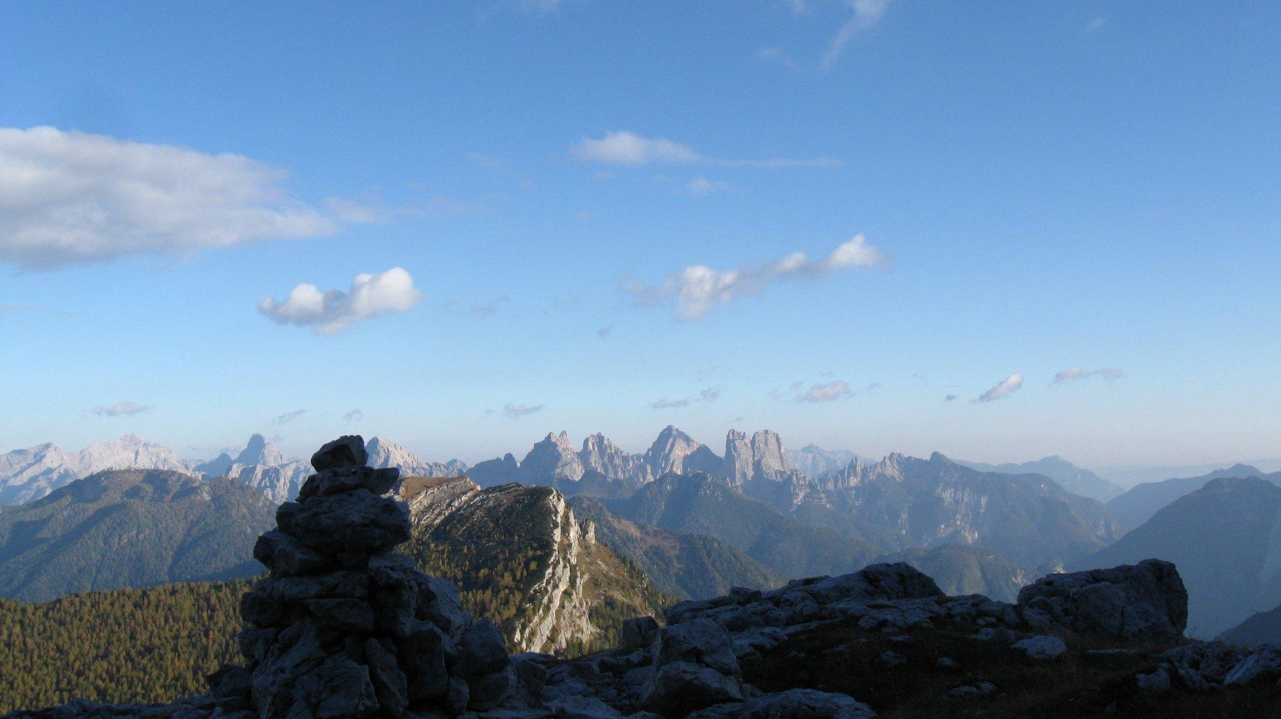 tramonto sulle montagne della Val Zoldana e le Dolomiti Friulane
