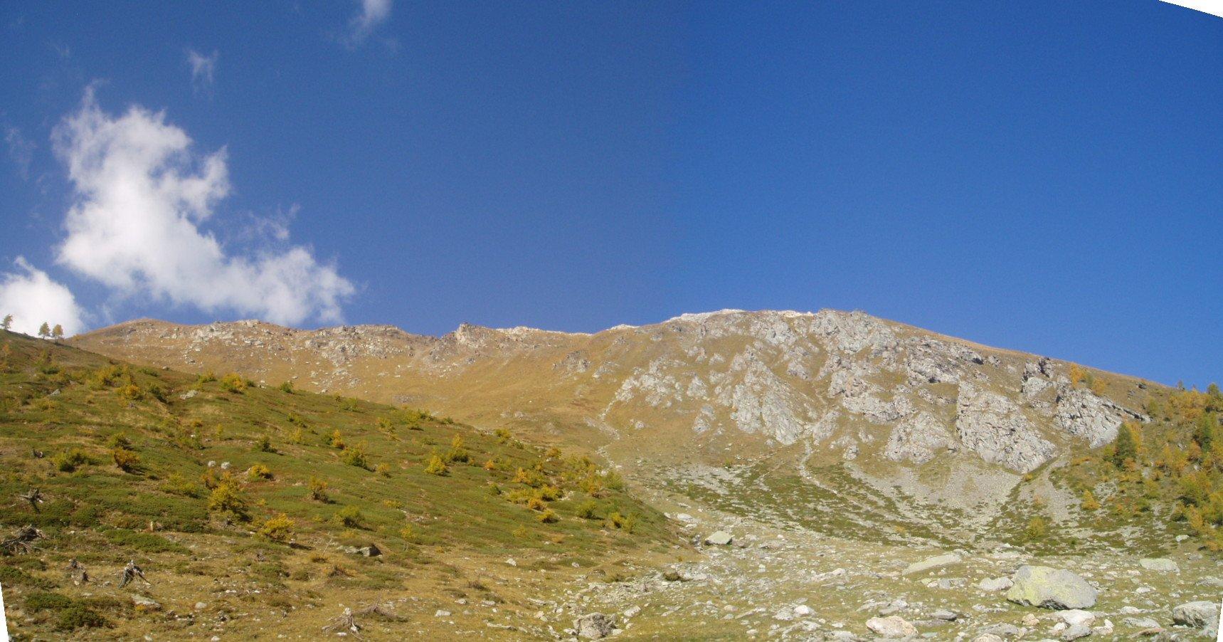 La cresta del Passo di Clopaca.
