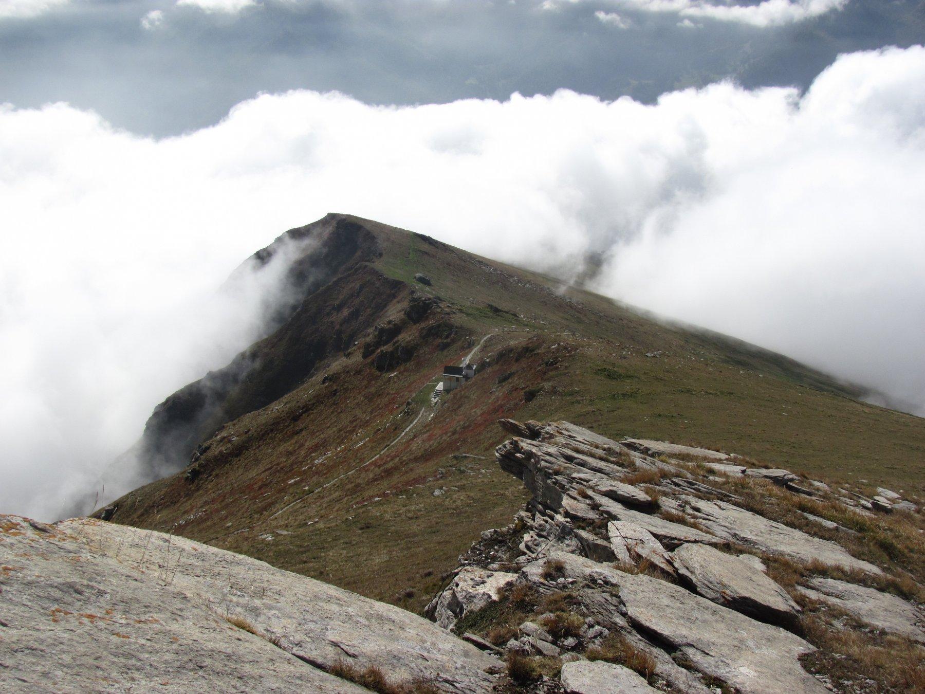 La Madonna Alpina, vista scendendo dalla cresta