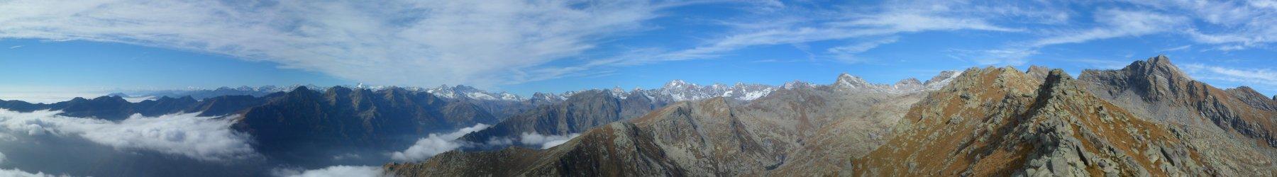 Panorama dalla cima Testona