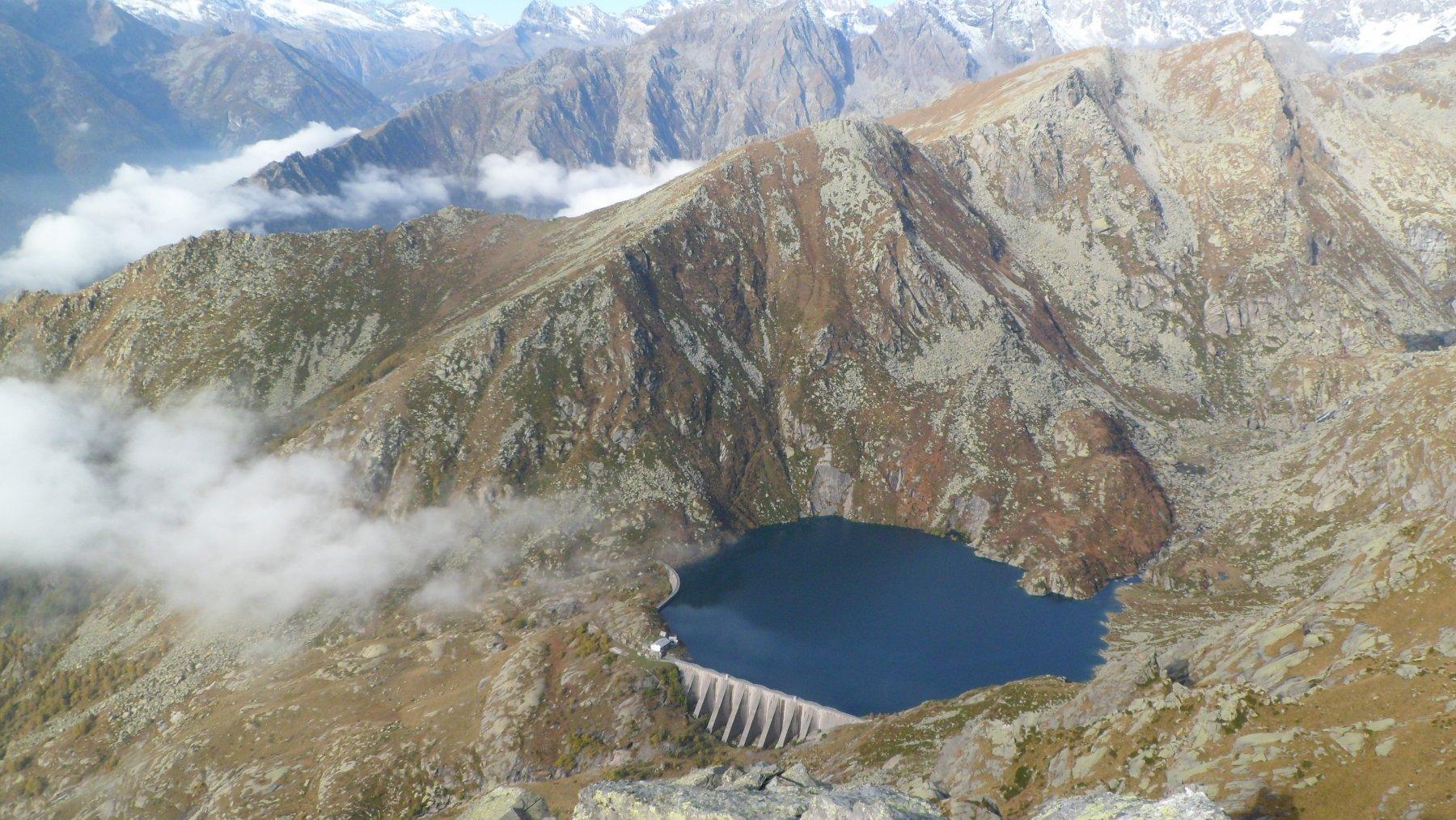 Lago d'Eugio dalla cima Testona