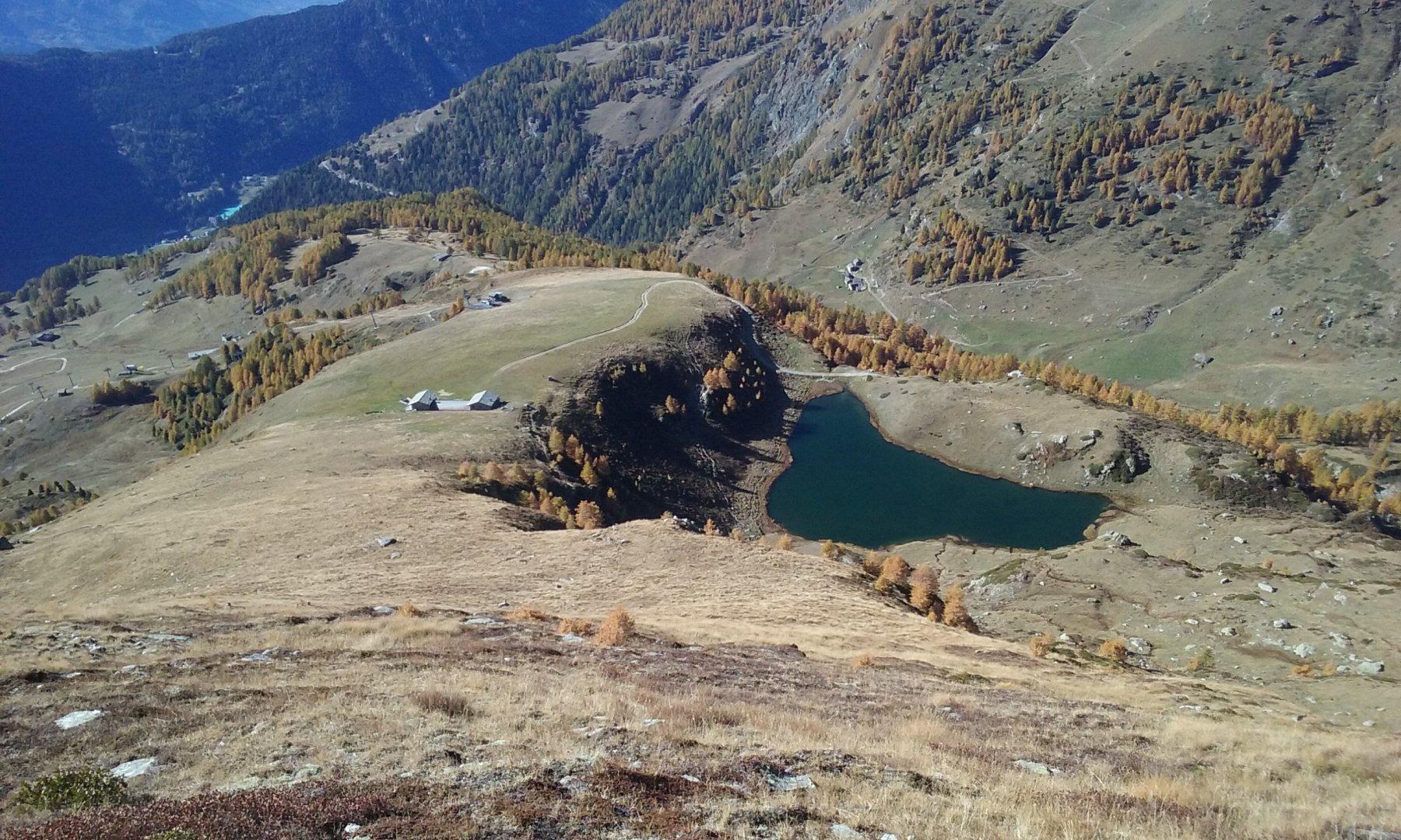 L'Alpe Litteran e lago omonimo