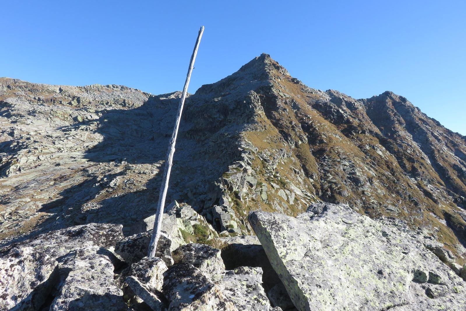 la cresta vista dalla cima del Bergamasco