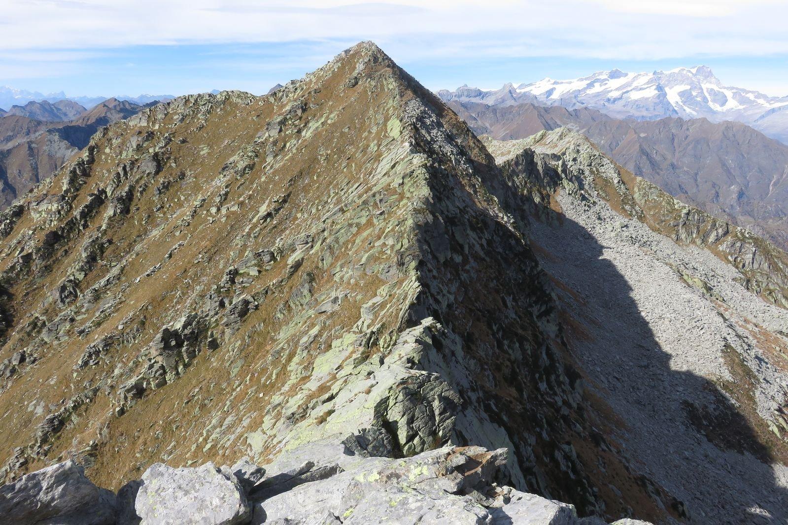 la cima di Bo vista dalla cima del Manzo