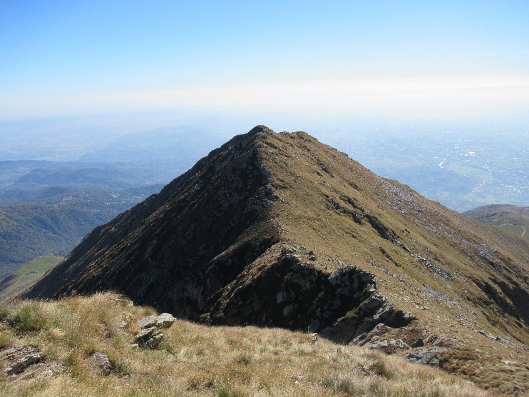 La cresta percorsa dalla Nord
