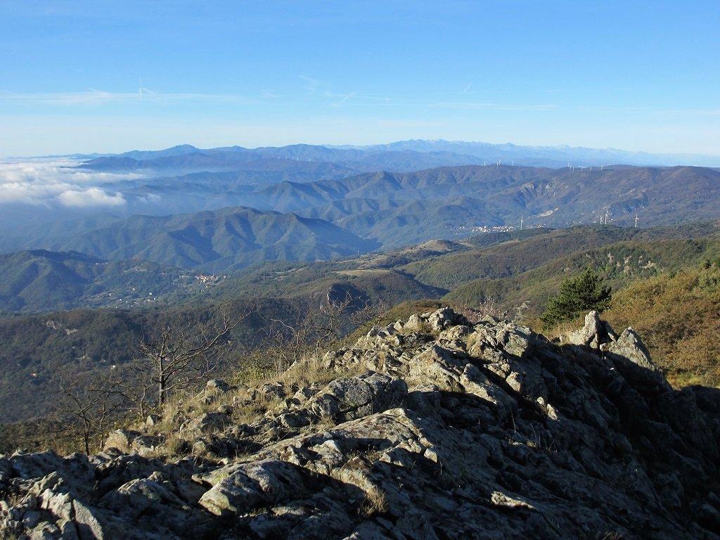 Panoramica sulle Alpi Liguri dal Priafaia