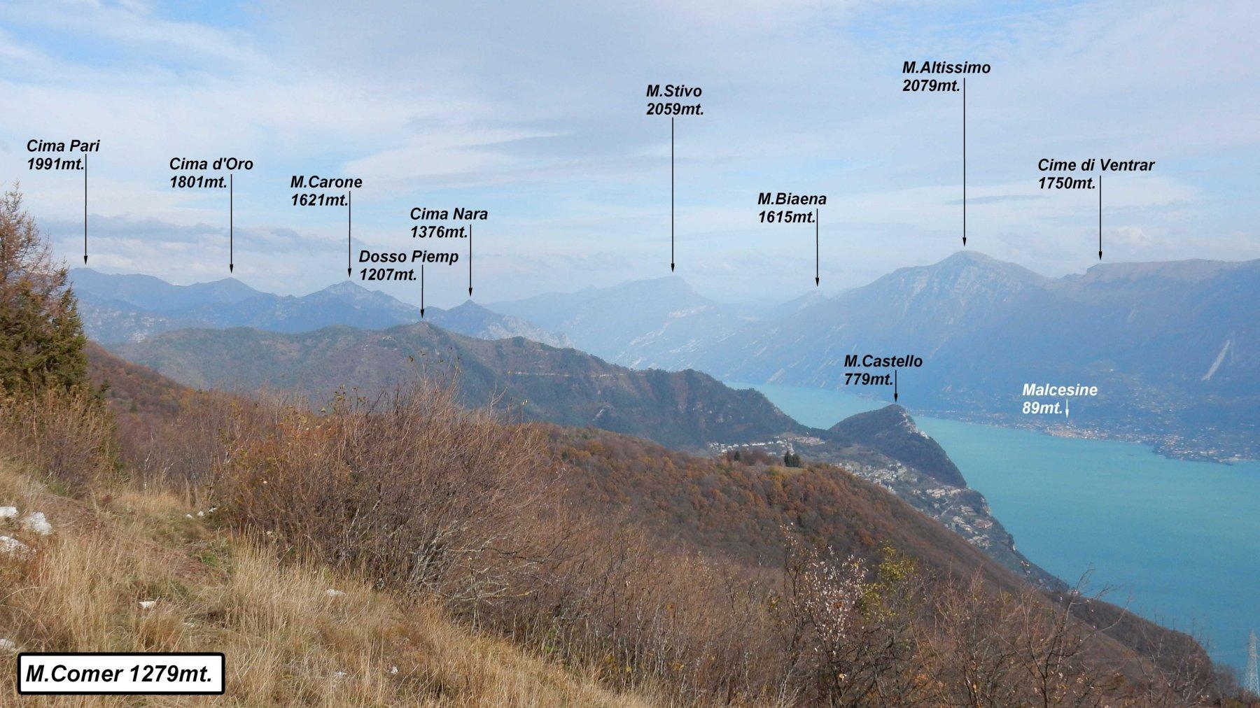 Denervo (Monte) e Monte Comer da Gargnano, anello 2018-11-04