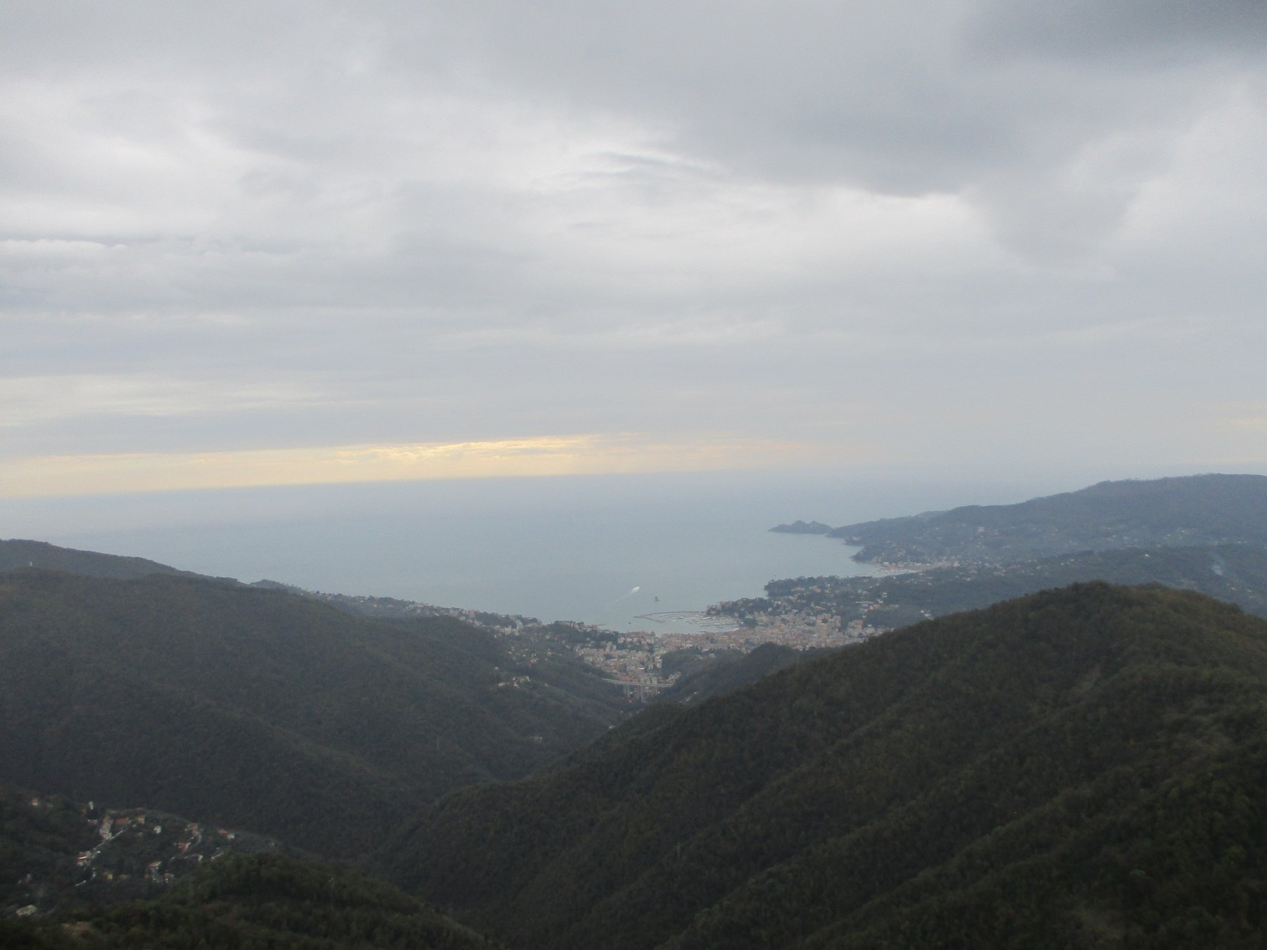 Dal M.Pegge vista su Rapallo