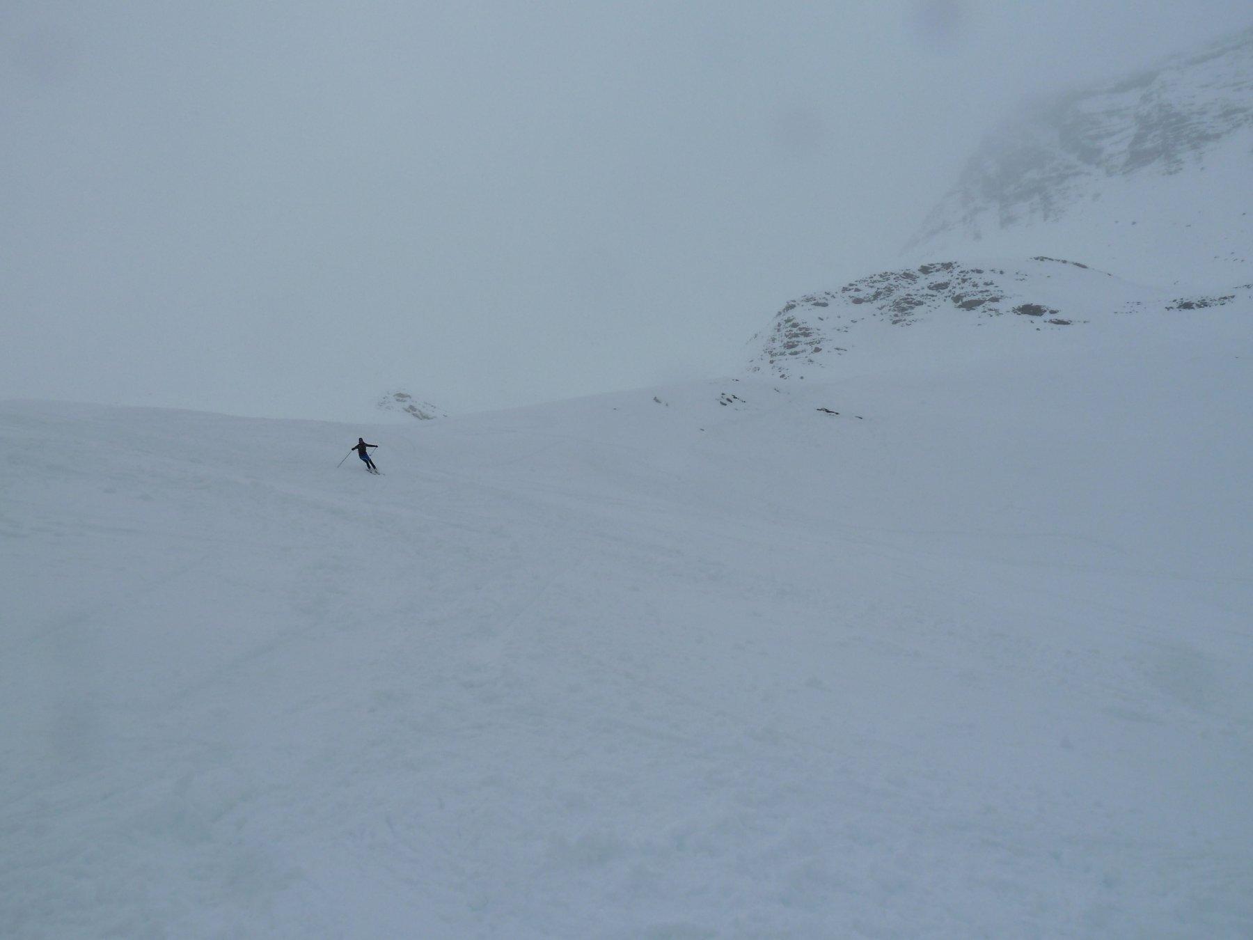 parte alta sotto una leggera nevicata
