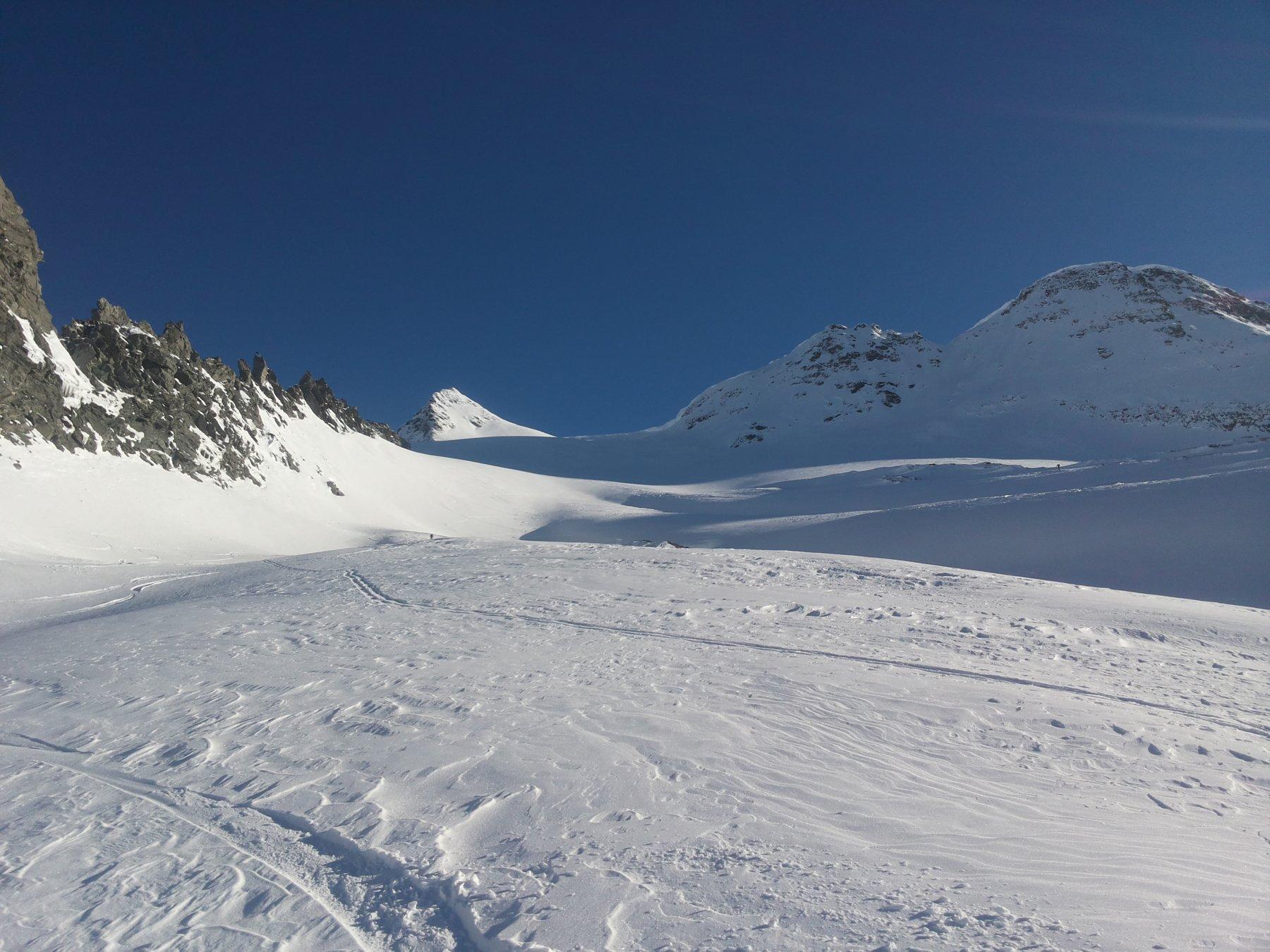 le belle curve sul piccolo ghiacciaio