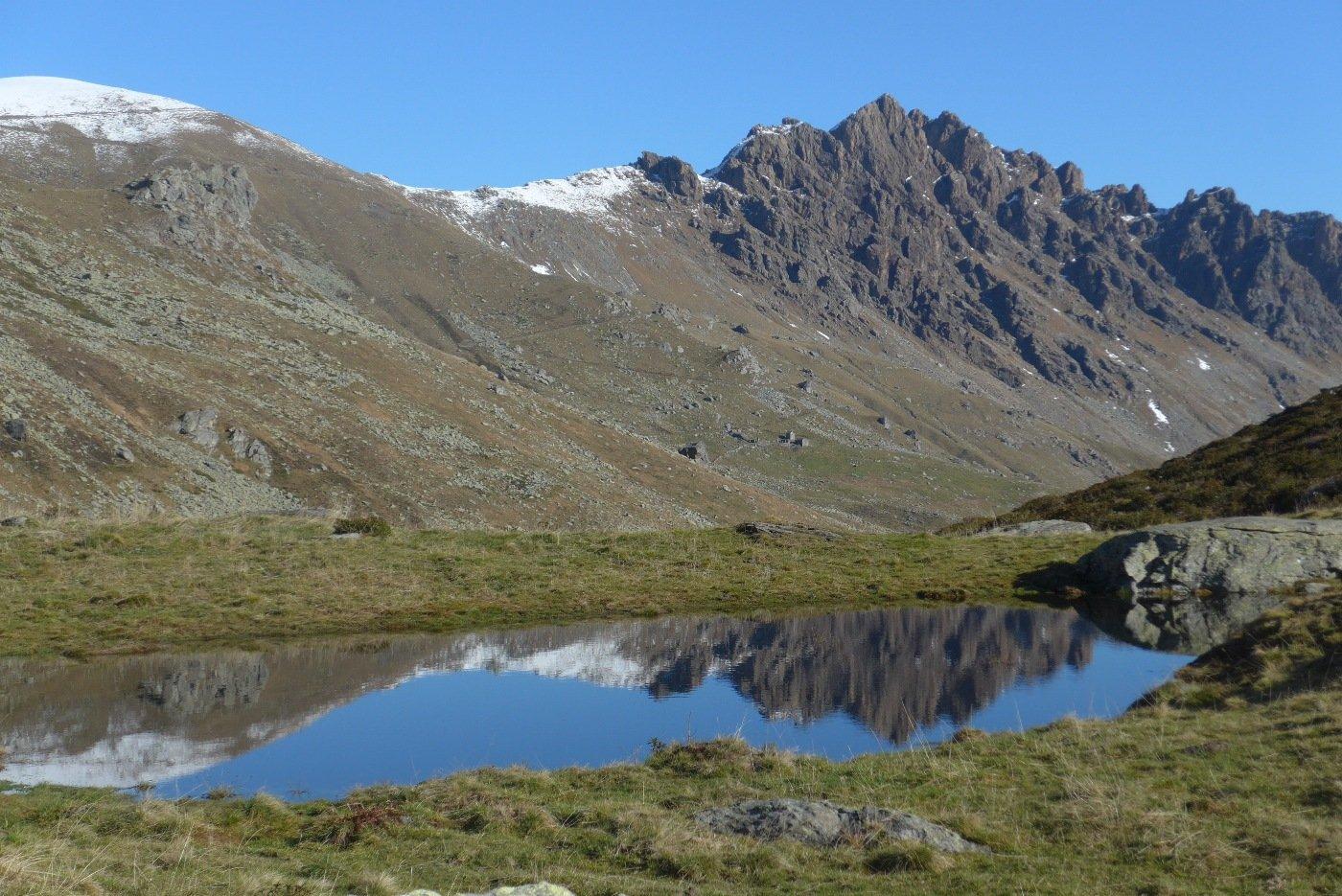 Al laghetto sopra la Rocca dell'Alpe