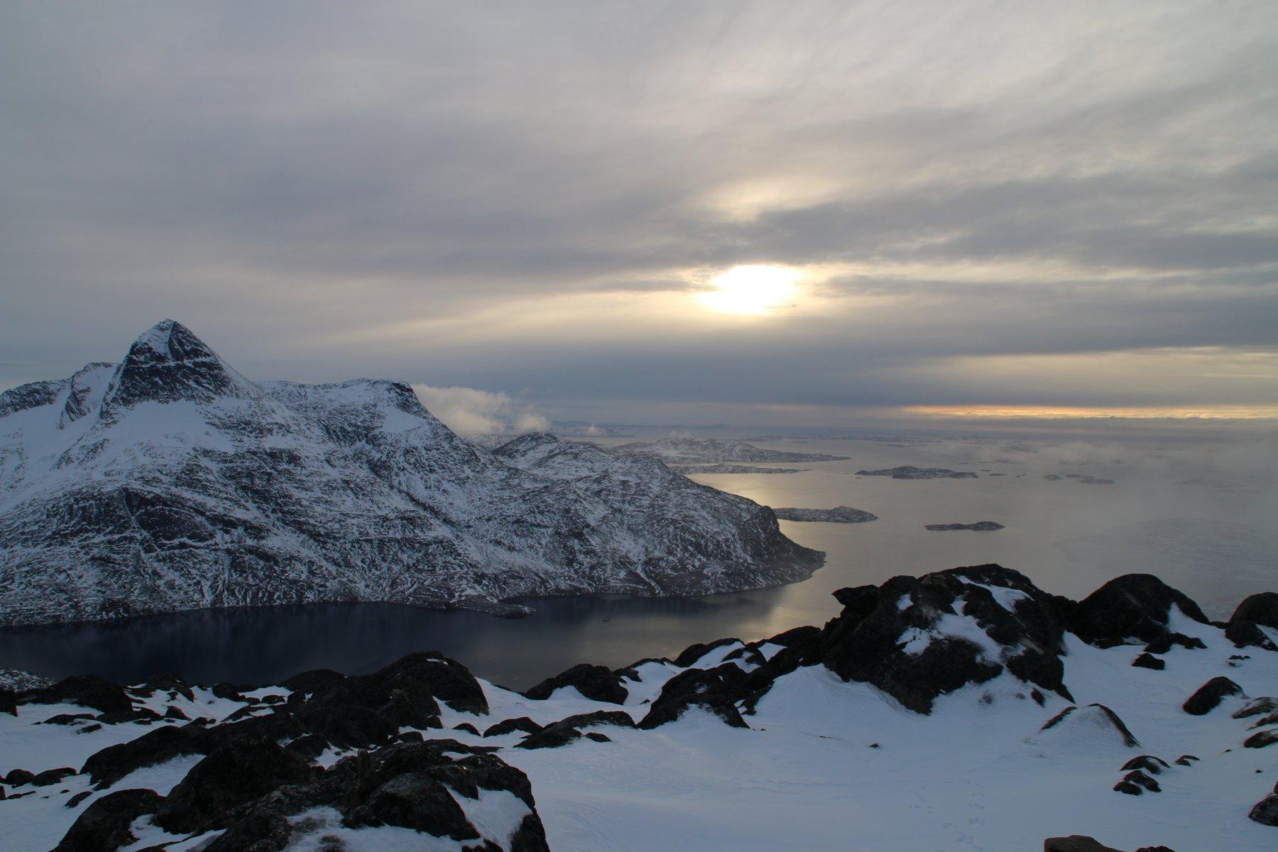 il kobbefjord visto dalla cima