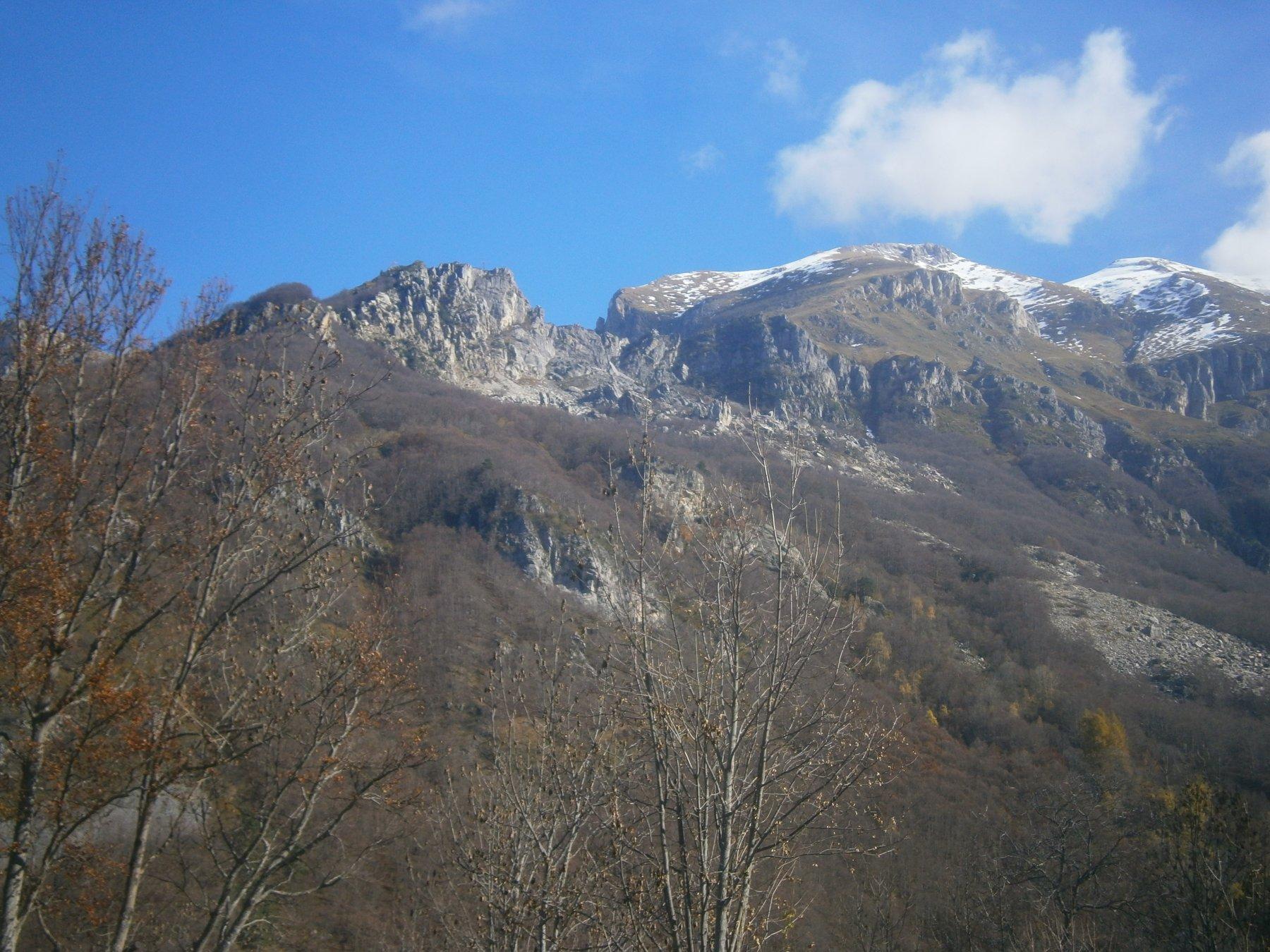 Crest e cima Fascia dal vallone san Giovanni