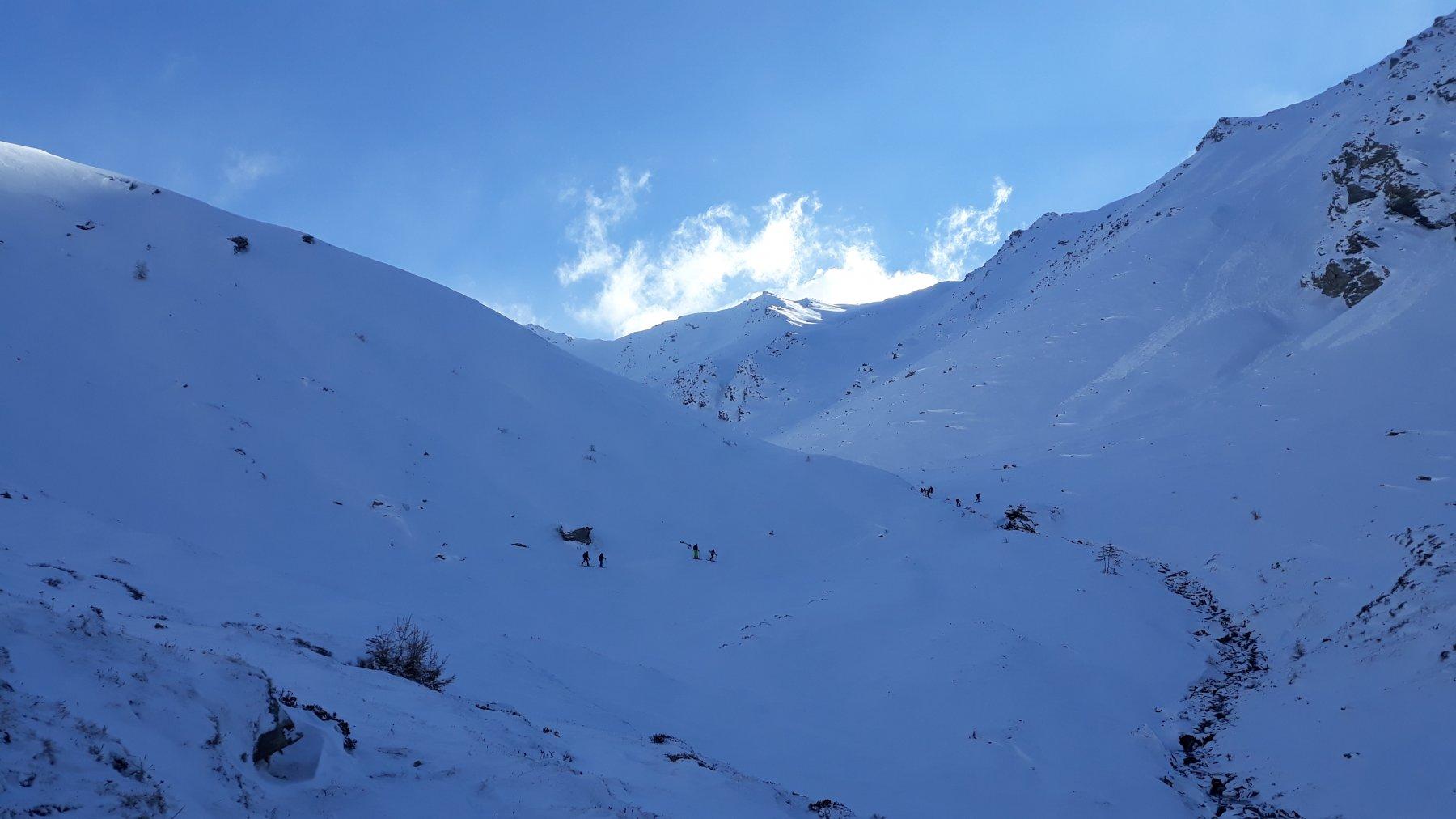 inizio salita con gli sci....a -10