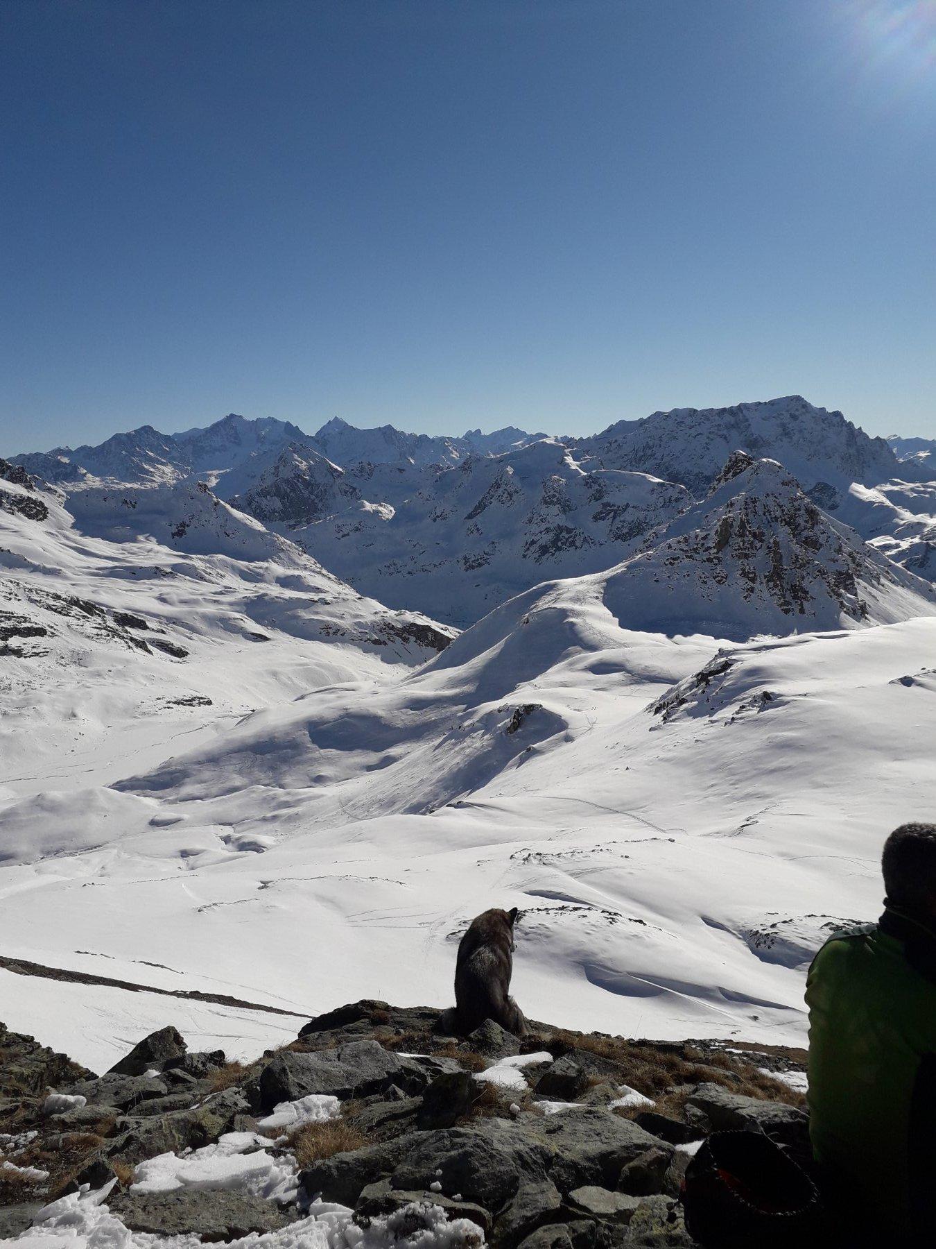 Panorama dalla cima sulla Val d'Agnel