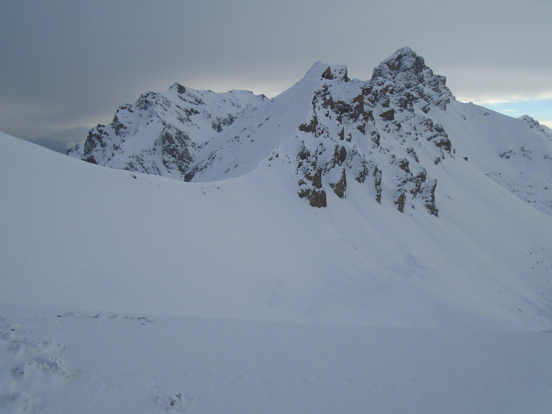 Dalla cresta vista sul Colle Villadel e Oronaye