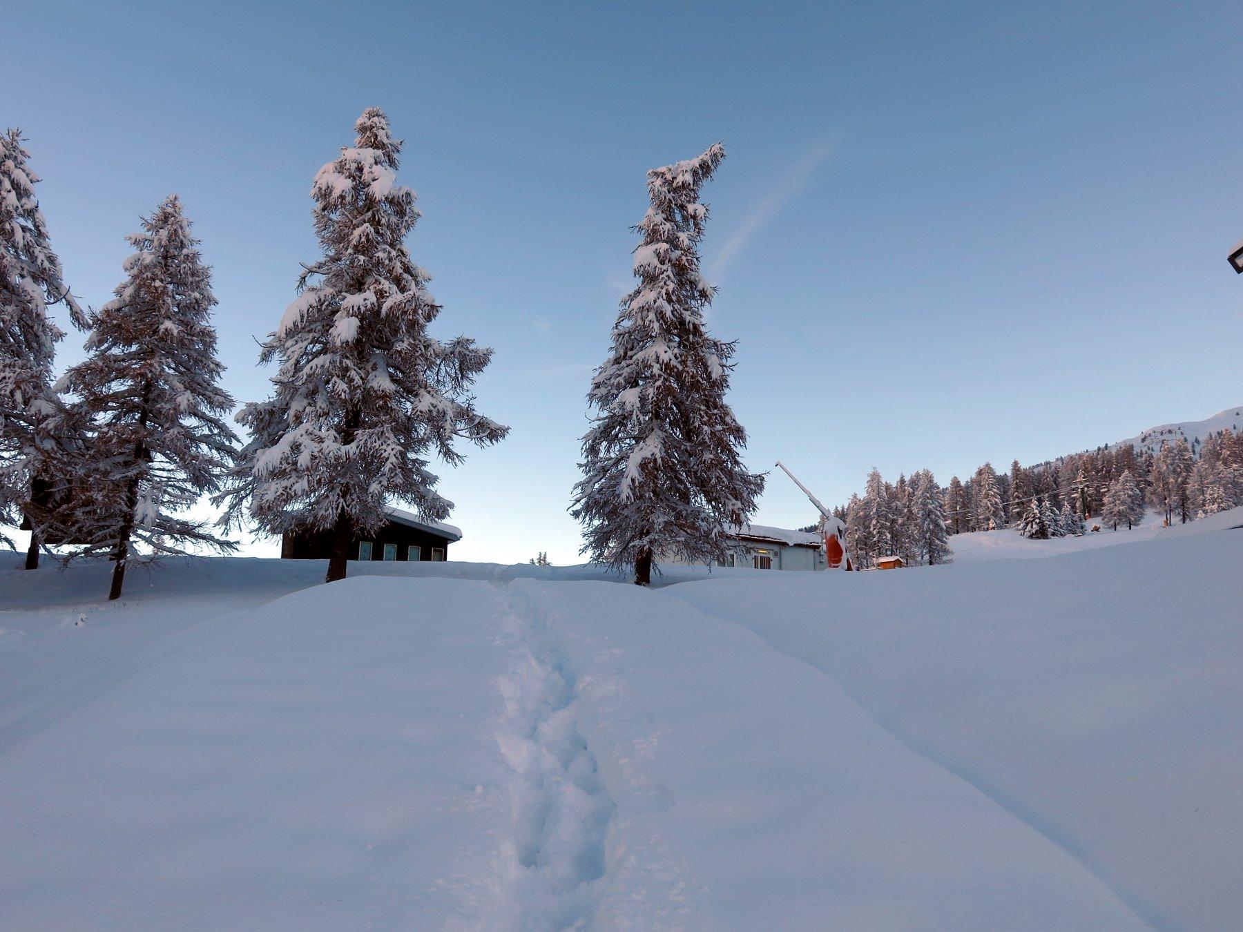 Situazione neve alla partenza