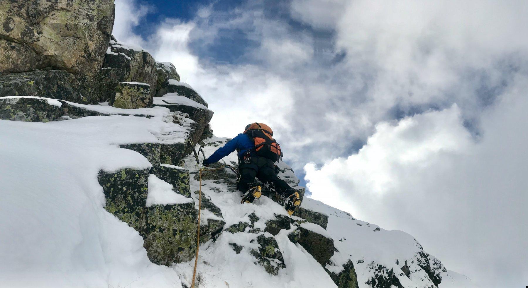 Ultimo tratto di arrampicata