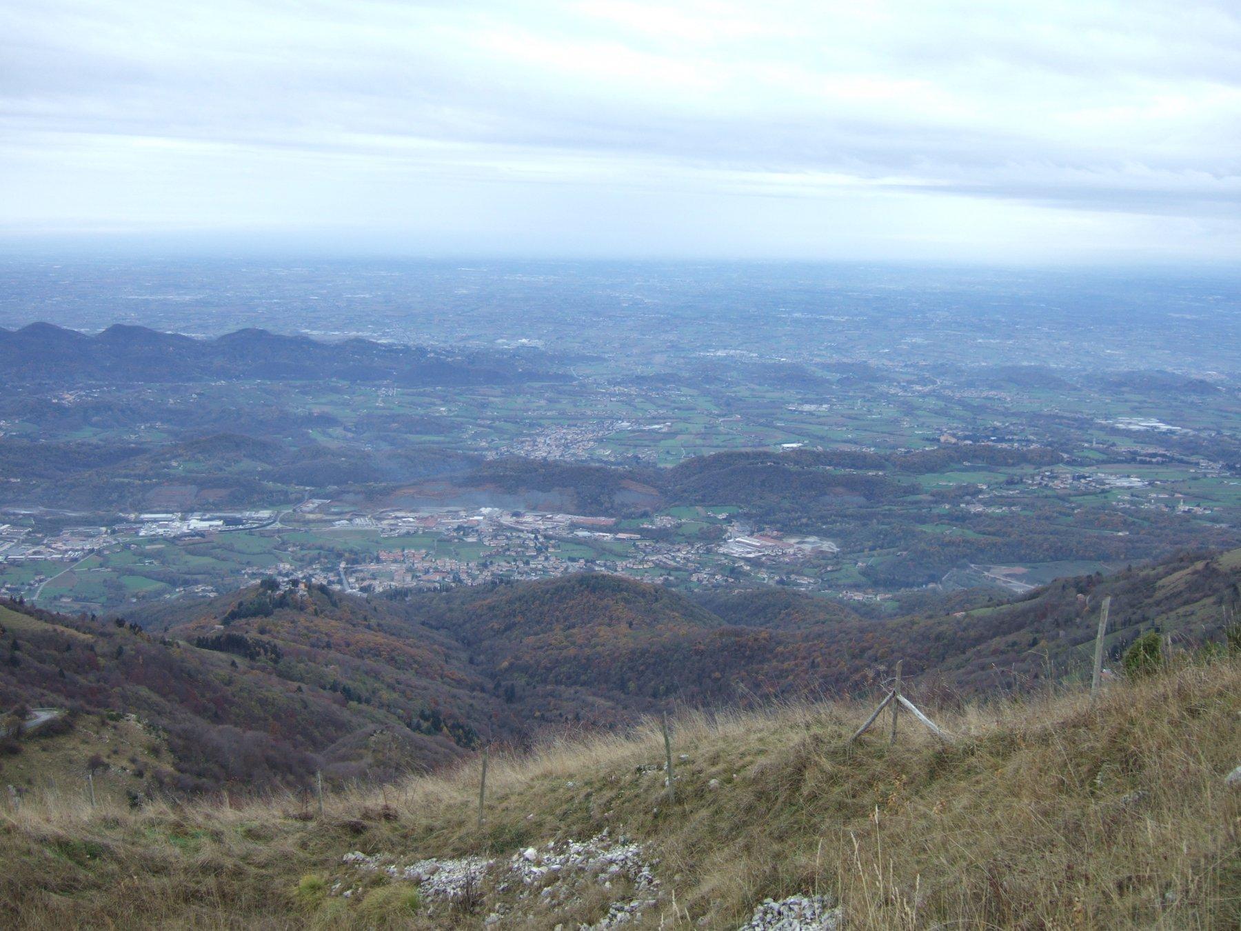 pianura trevigiana e fiume Piave dal Monte Palon