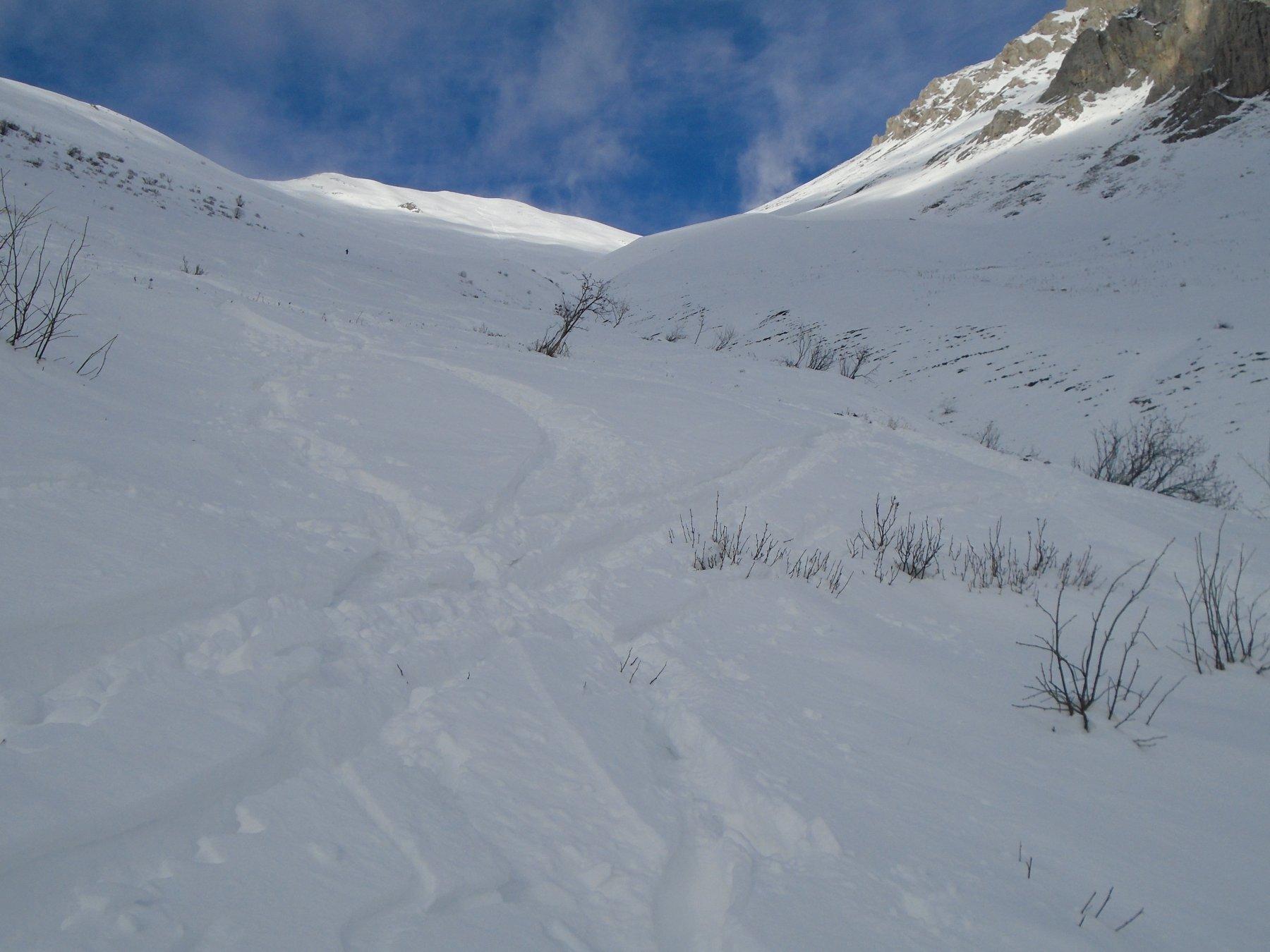 Bella neve in alto sulla sponda dx or.