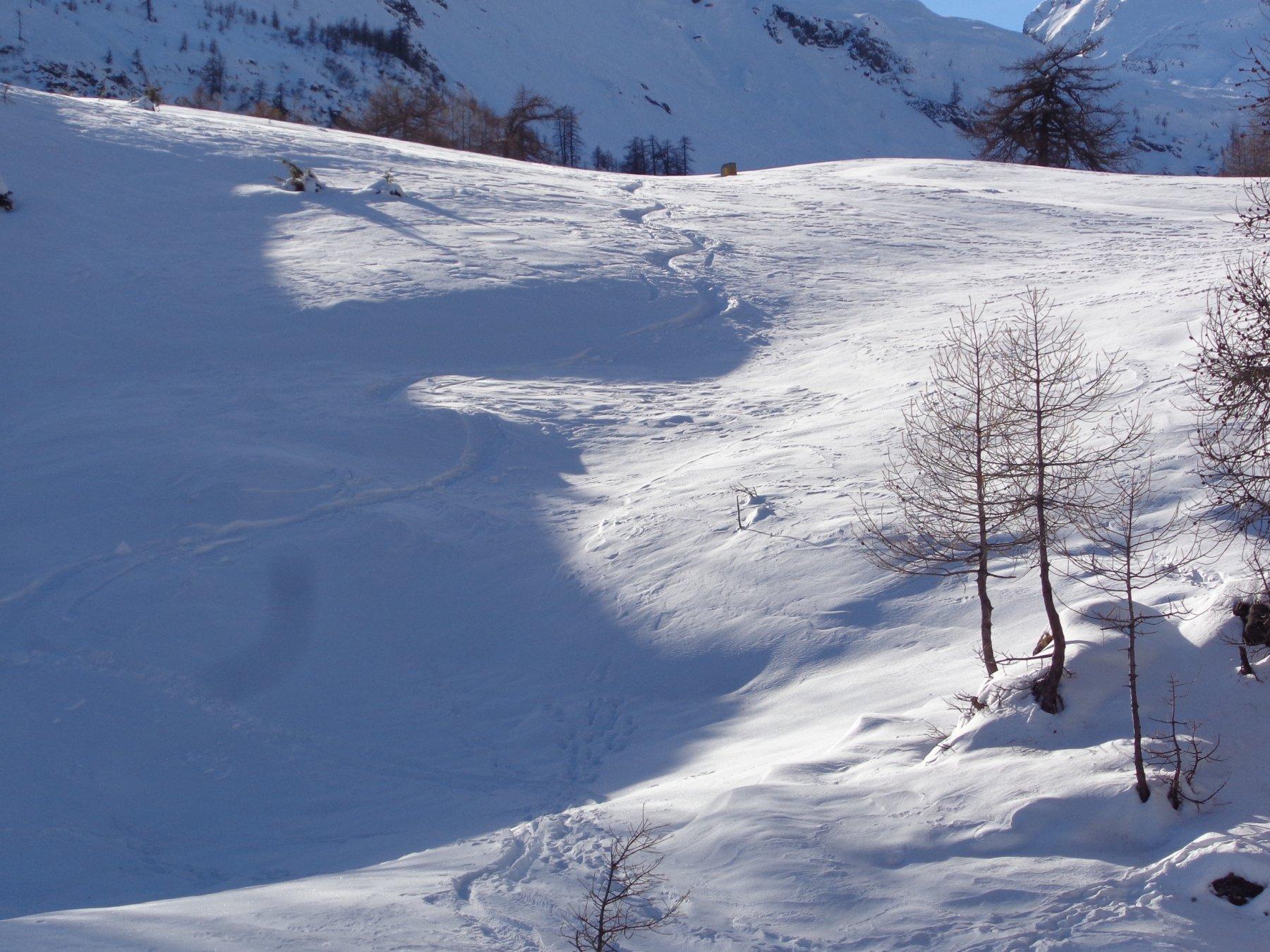 alcuni punti con neve farinosa