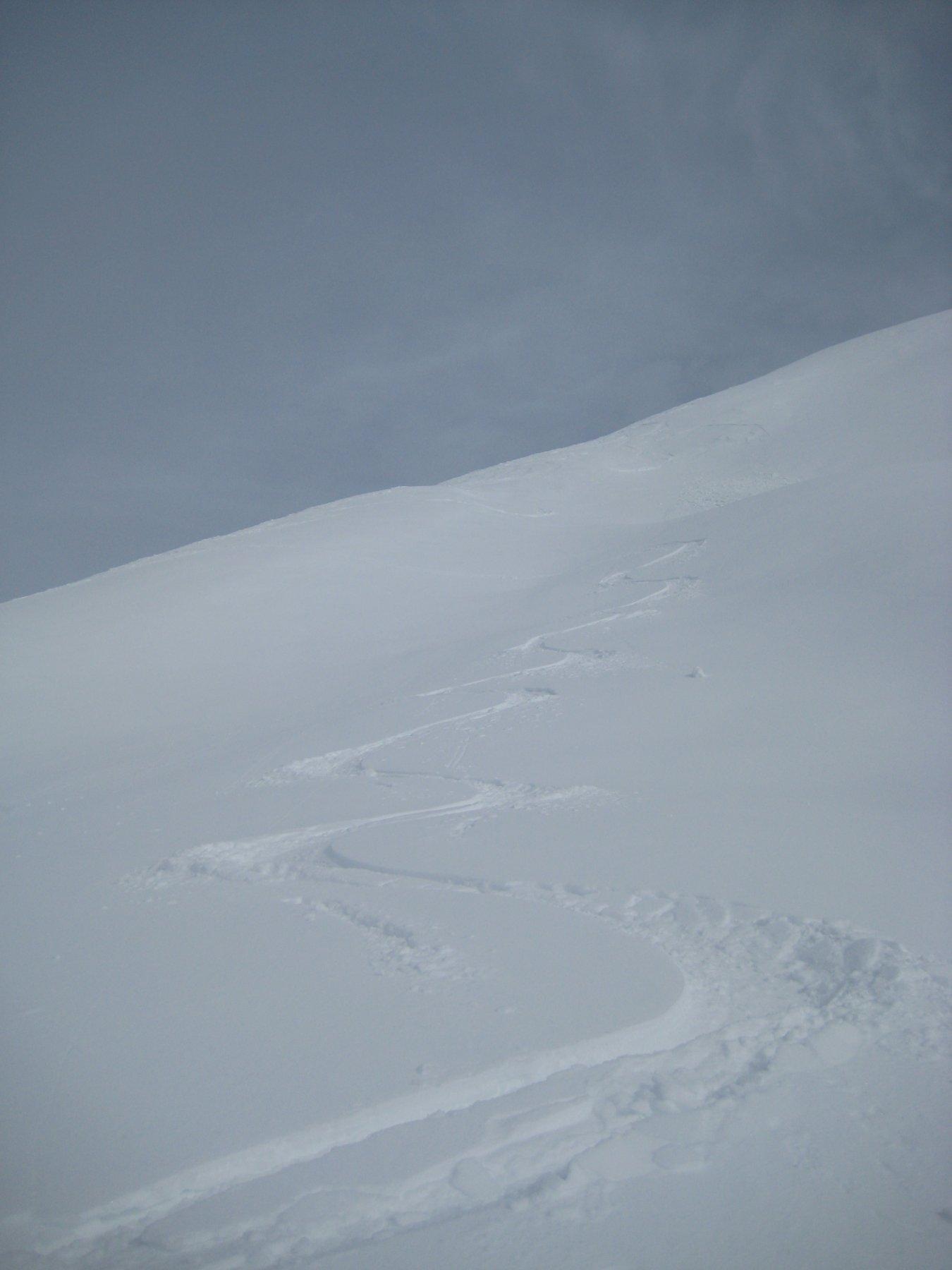 dopo la prima parte un po' crostosa, bella neve