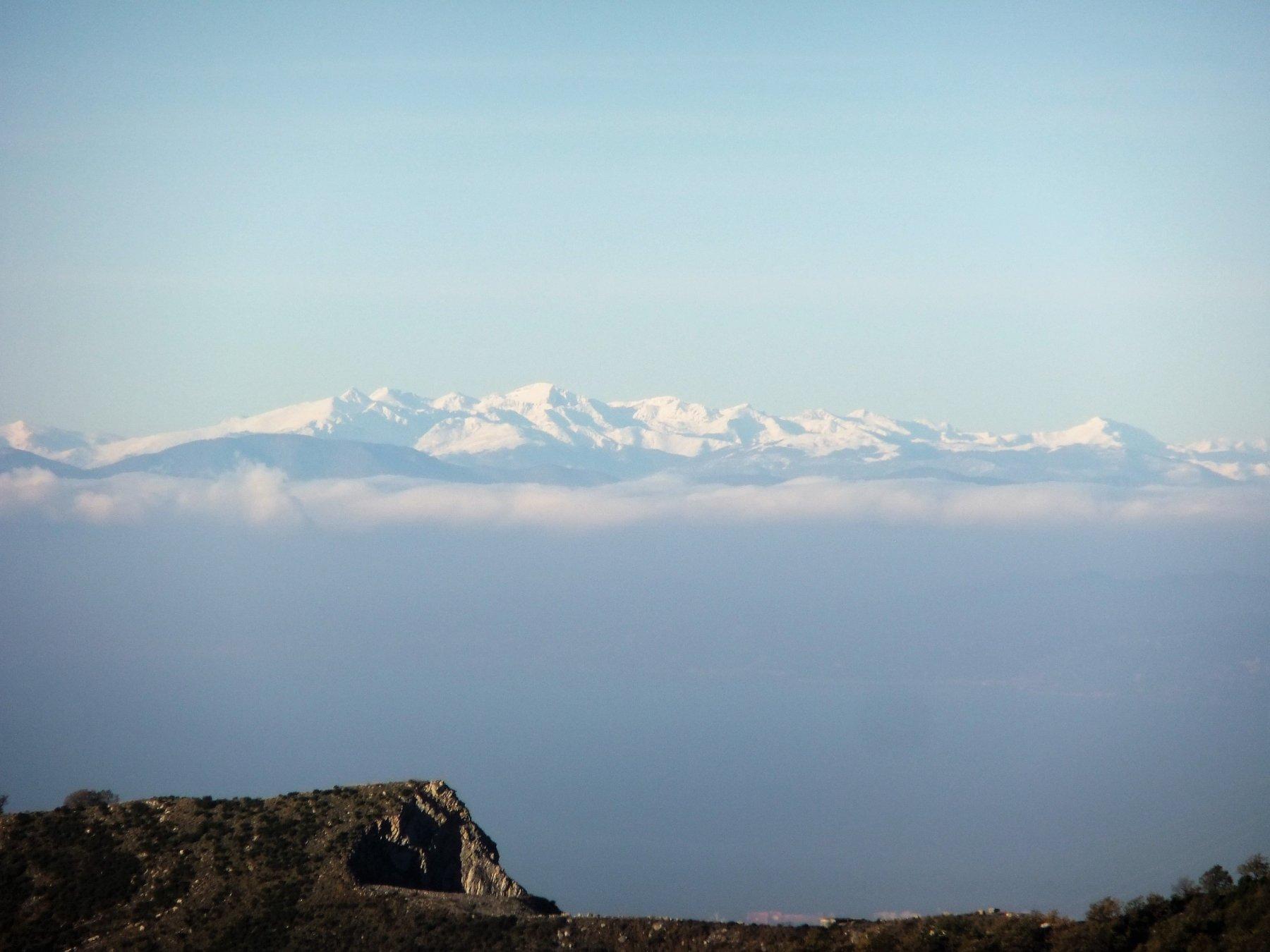Appaiono le lontane Alpi Liguri