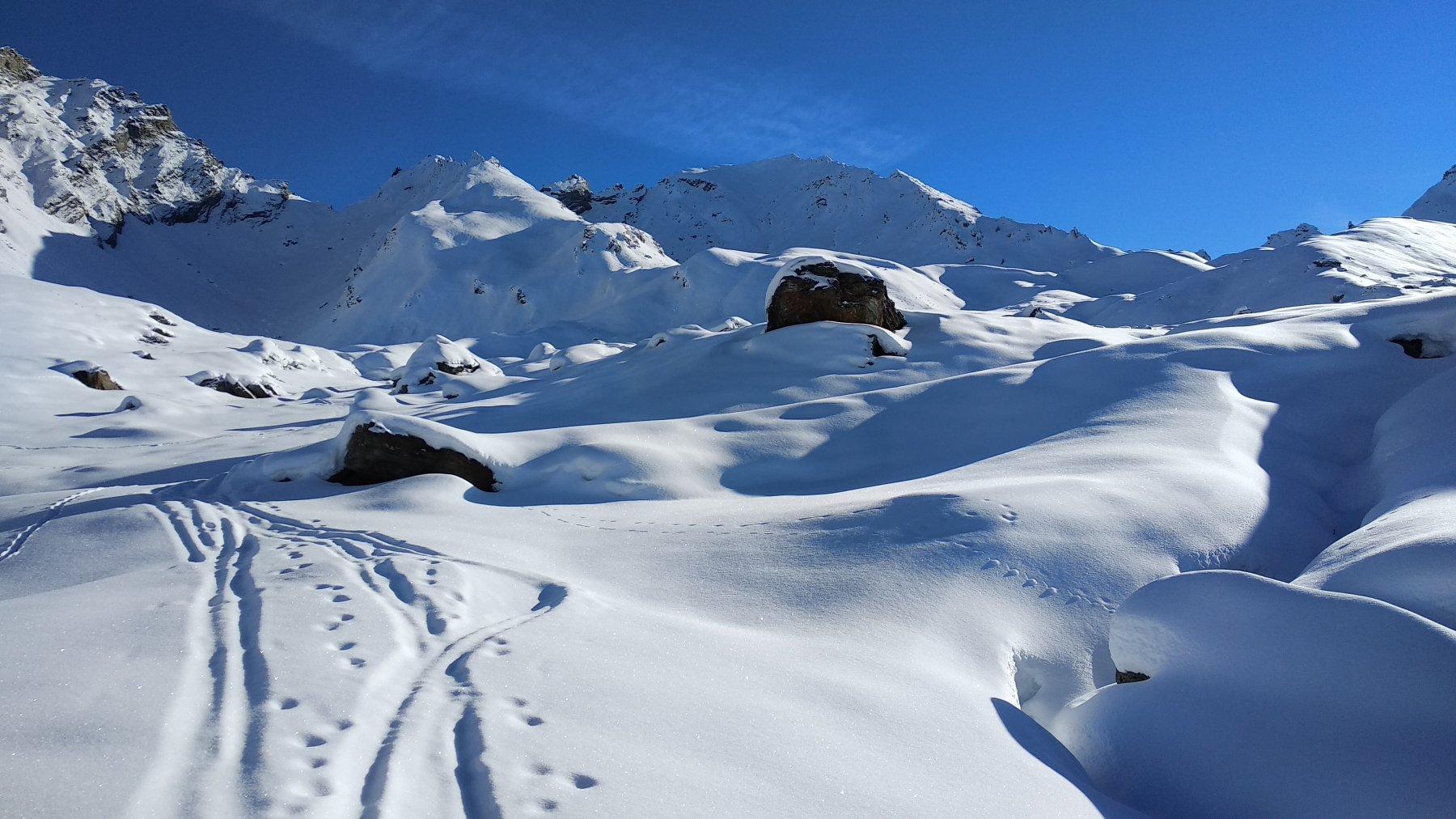 vecchie tracce sopra i 2.200 m verso il Sigaro