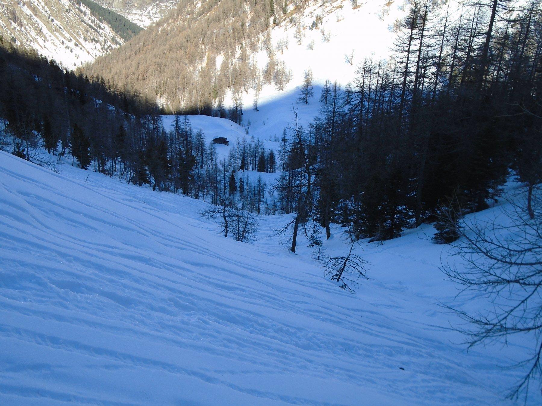 Ancora bella neve in vista di Gr. Costis