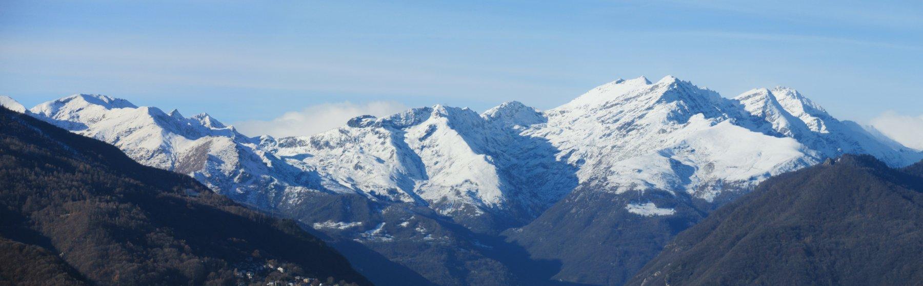 Panorama sui monti della Valle dell'Orco