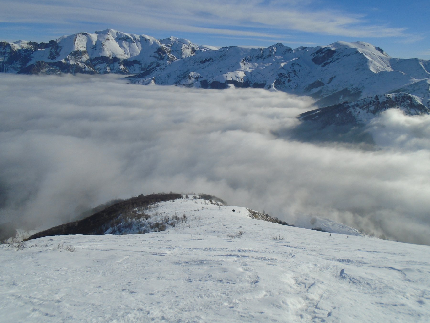 Discesa: la nebbia va dissolvendosi