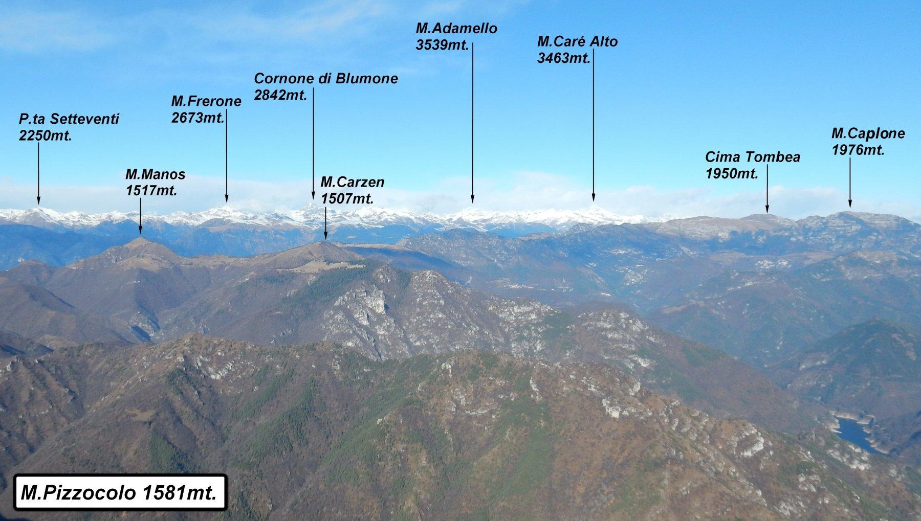 Panorama dal  M.Pizzocolo.