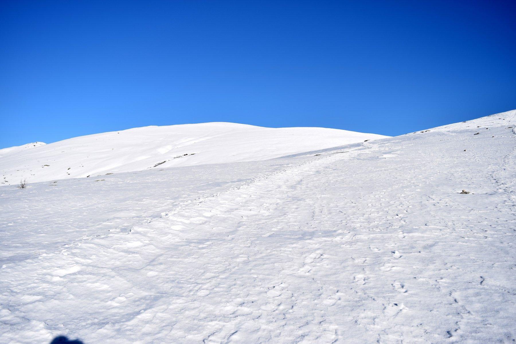 In salita su neve portate ghiacciata
