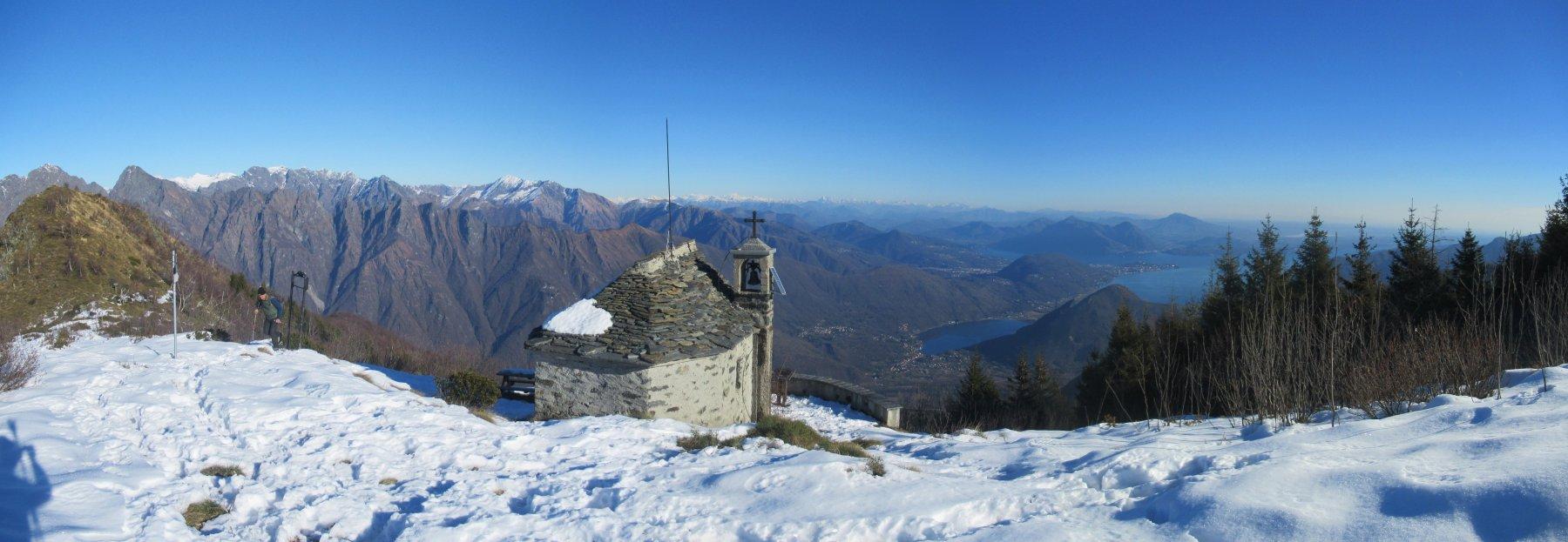 Stupendo panorama dalla Cappella del Buon Pastore