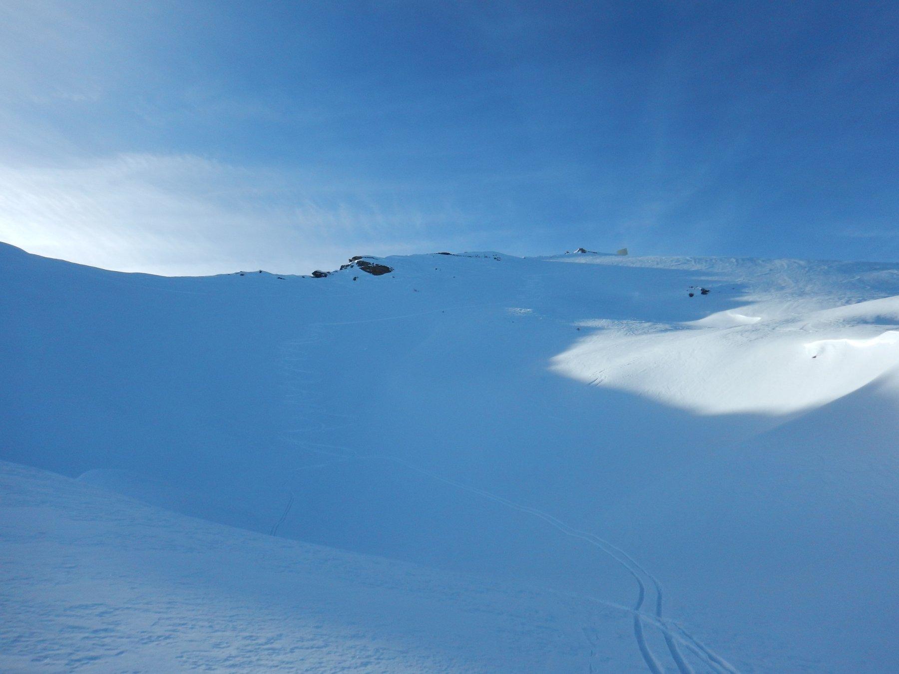 qui, sotto la pointe du drink, bella neve