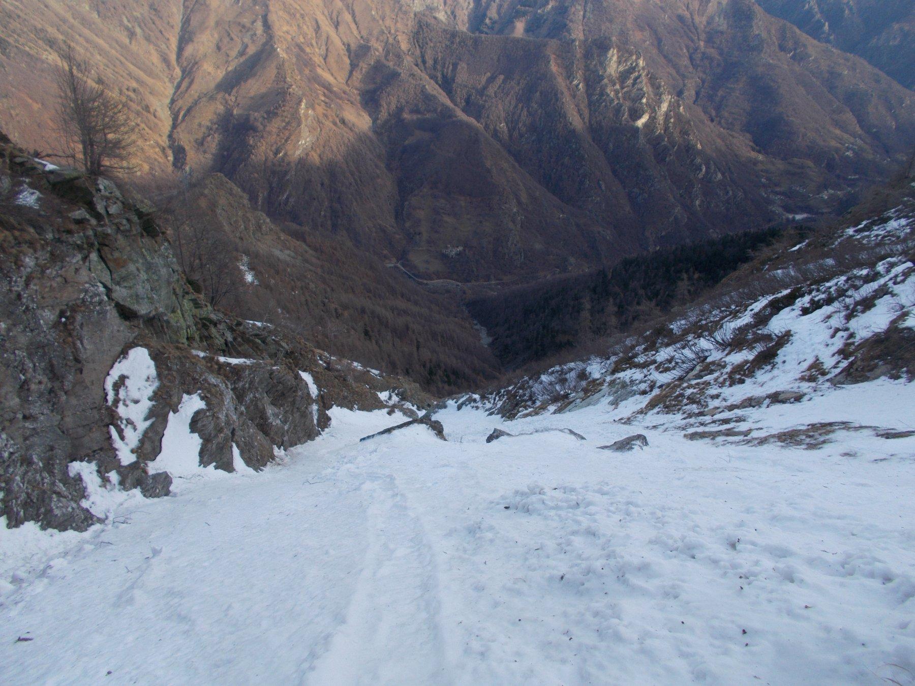 la neve..solo dai 1700-1800m in poi..