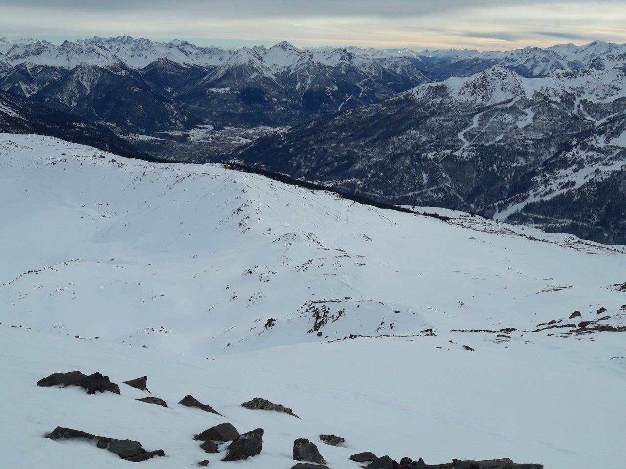 e della parte alta della salita (dai 2000m) con Briancon sullo sfondo