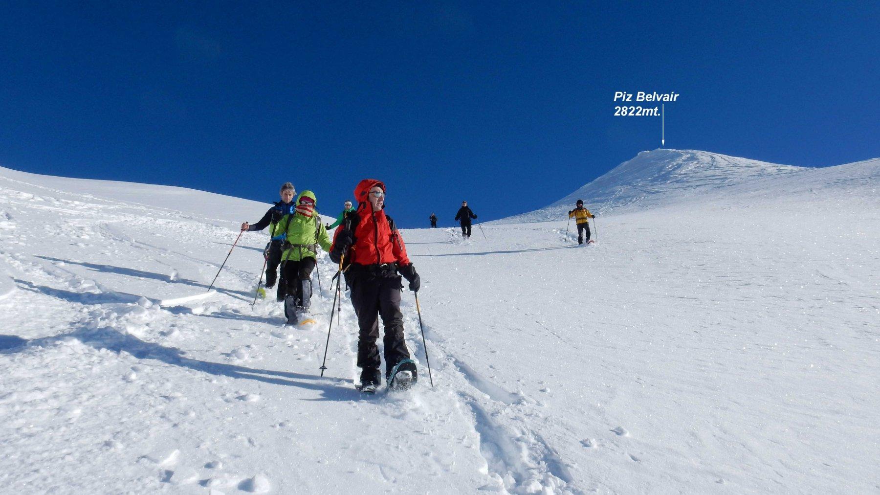 Discesa verso la Val Mura su neve da urlo.