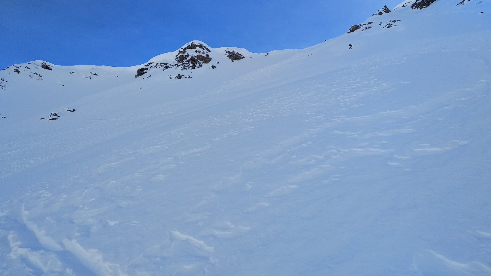 pendio che porta sulla cresta a 2.625 m