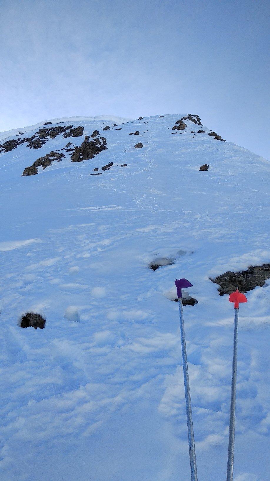 tratto a piedi sopra i 2.625 m