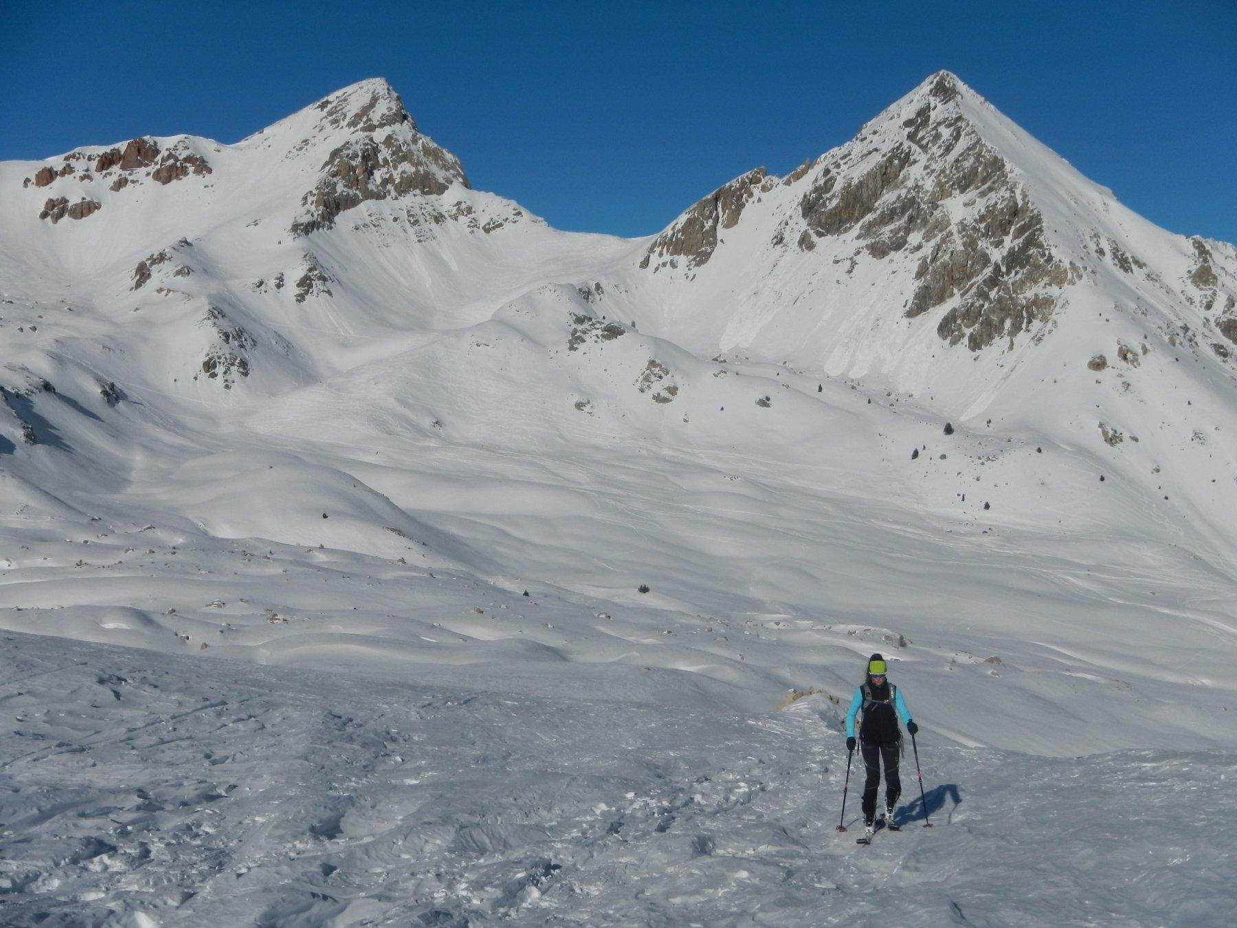 Col des Ourdeis; sullo sfondo il Col des Peygus