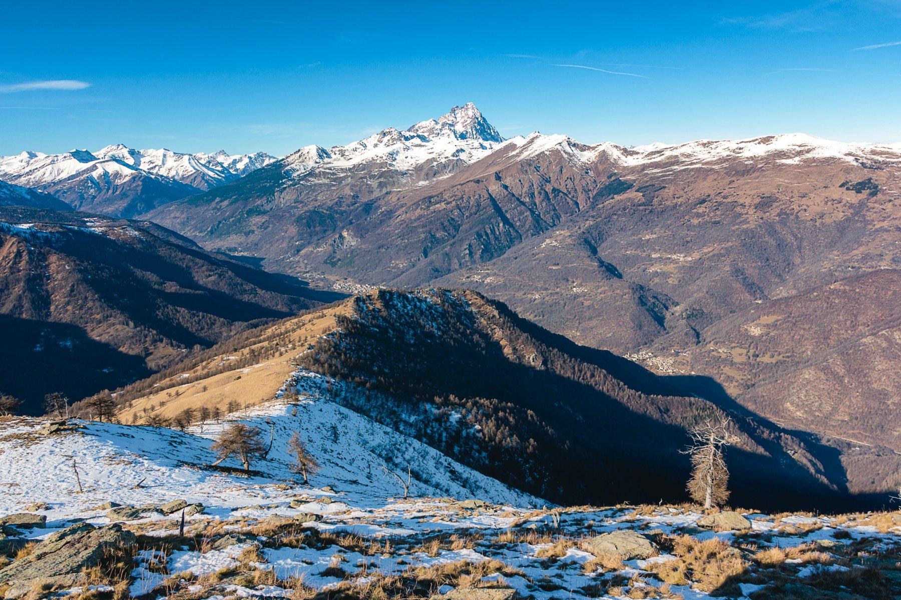 La vista dalla cima
