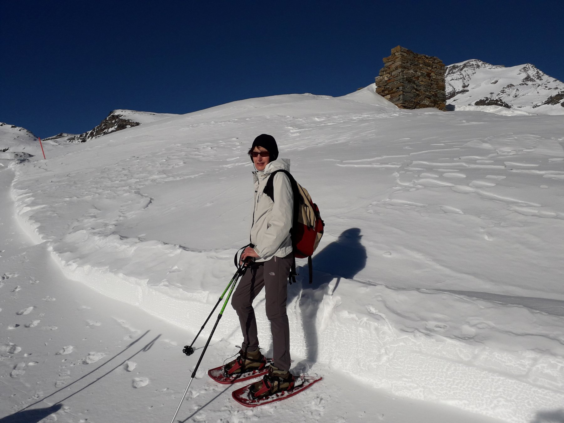 Appena superate le piste da sci