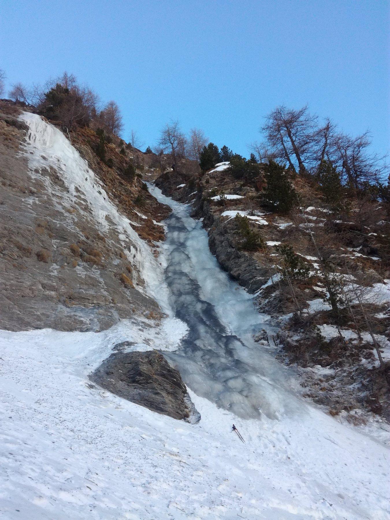 Le condizioni attuali della cascata